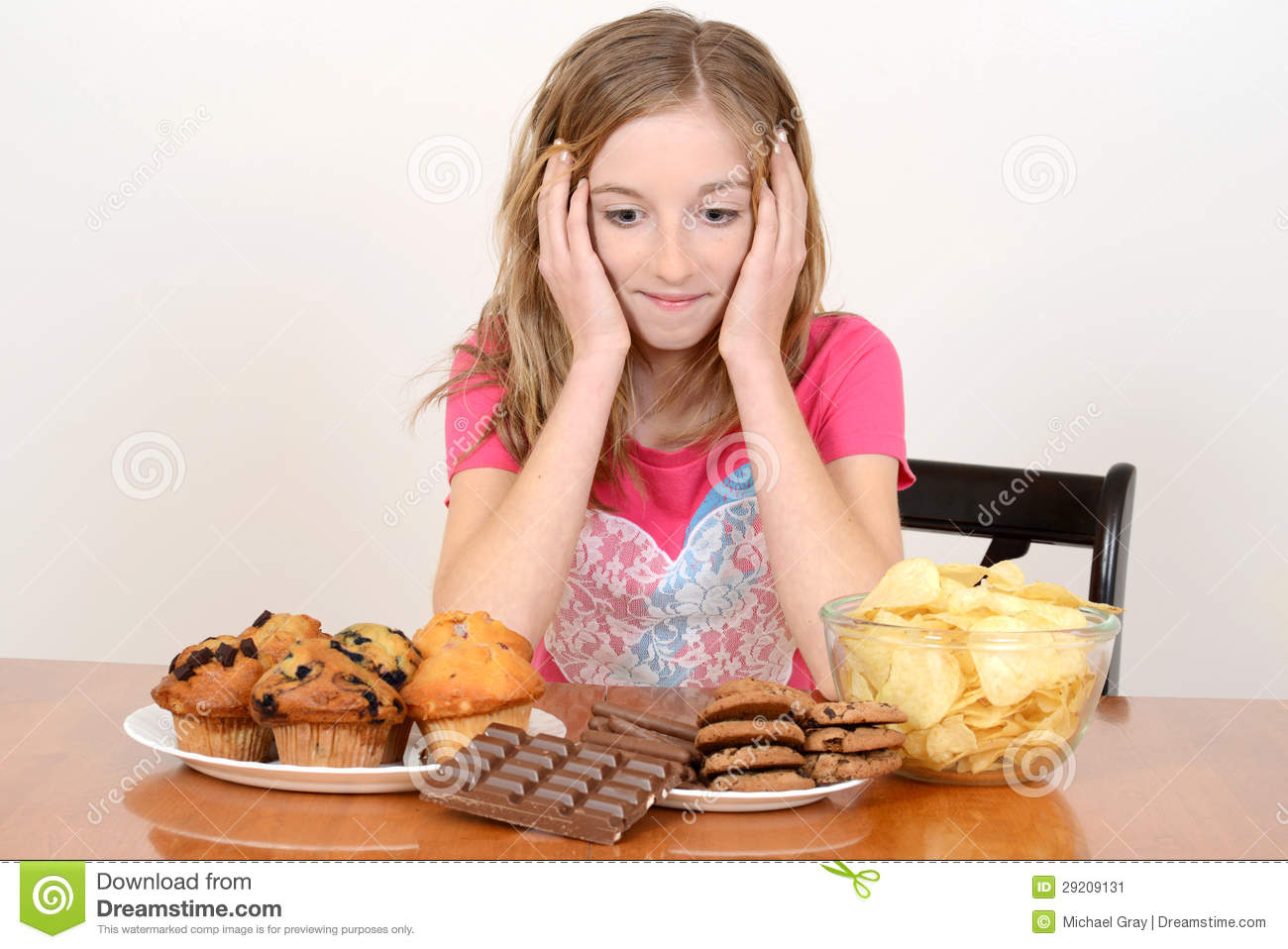Unhealthy Food Plate Child With Huge Pile O...