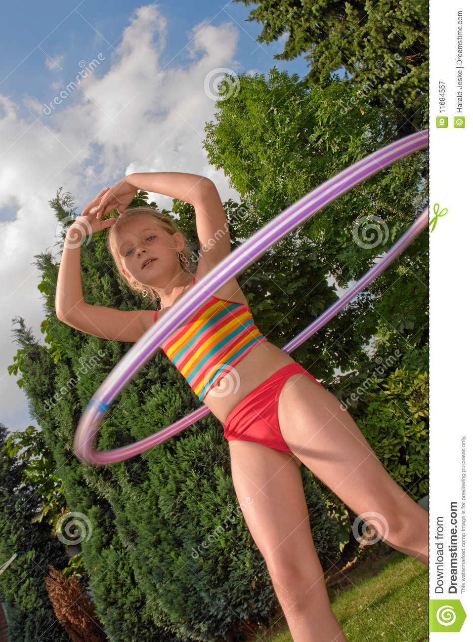 child with hula hoop stock image image of movement child. Black Bedroom Furniture Sets. Home Design Ideas