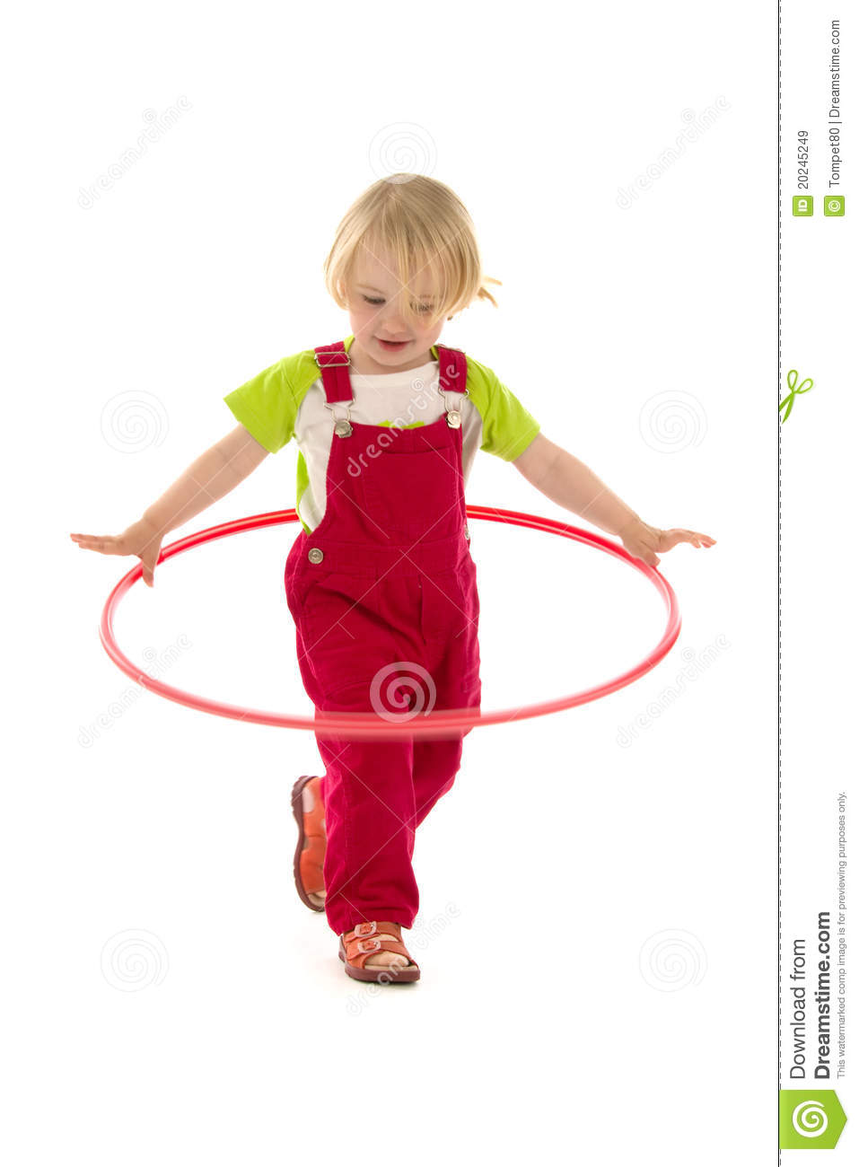 child with hula hoop stock image image of isolated. Black Bedroom Furniture Sets. Home Design Ideas