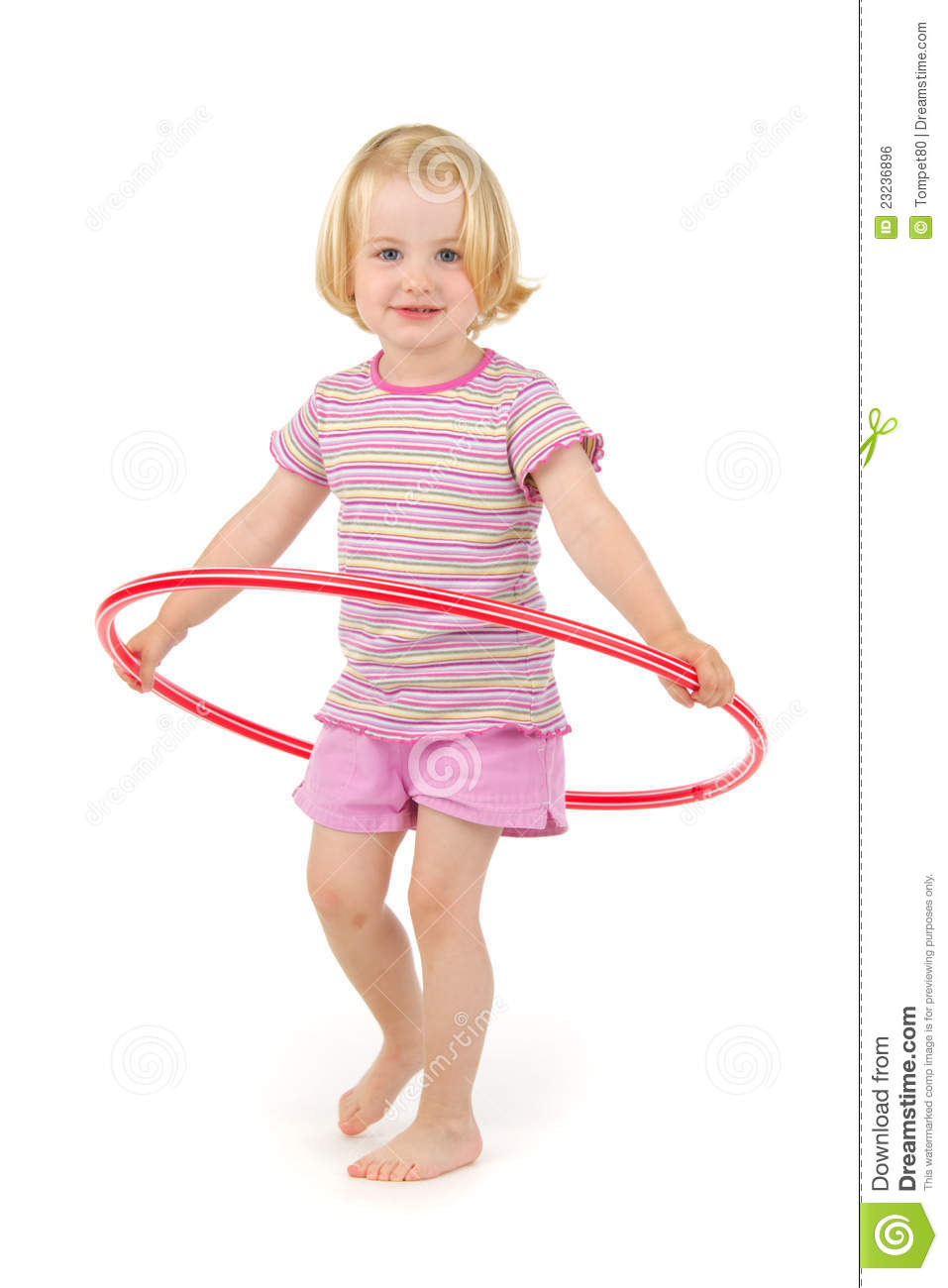 child with hula hoop royalty free stock image image. Black Bedroom Furniture Sets. Home Design Ideas