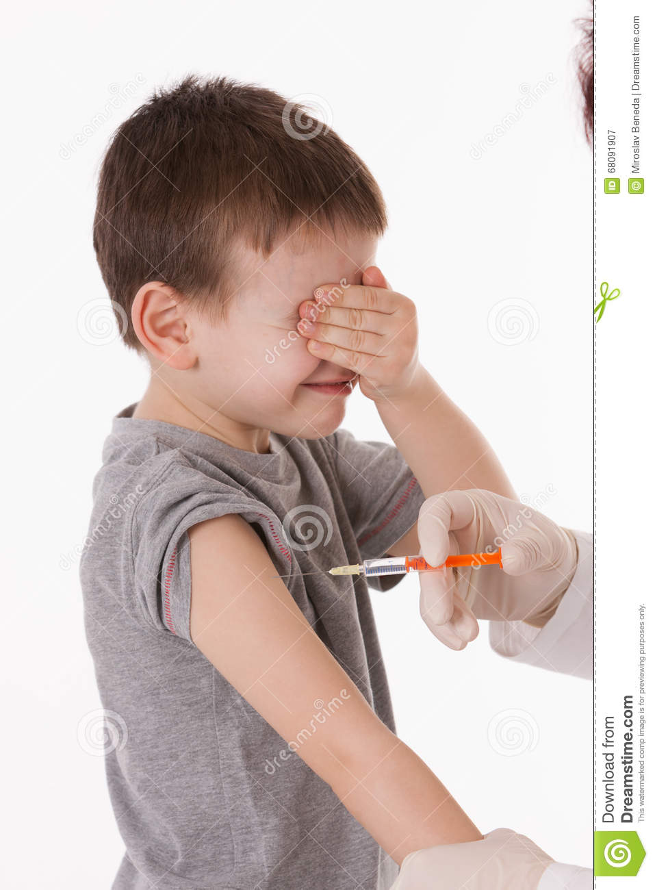 Child with injection