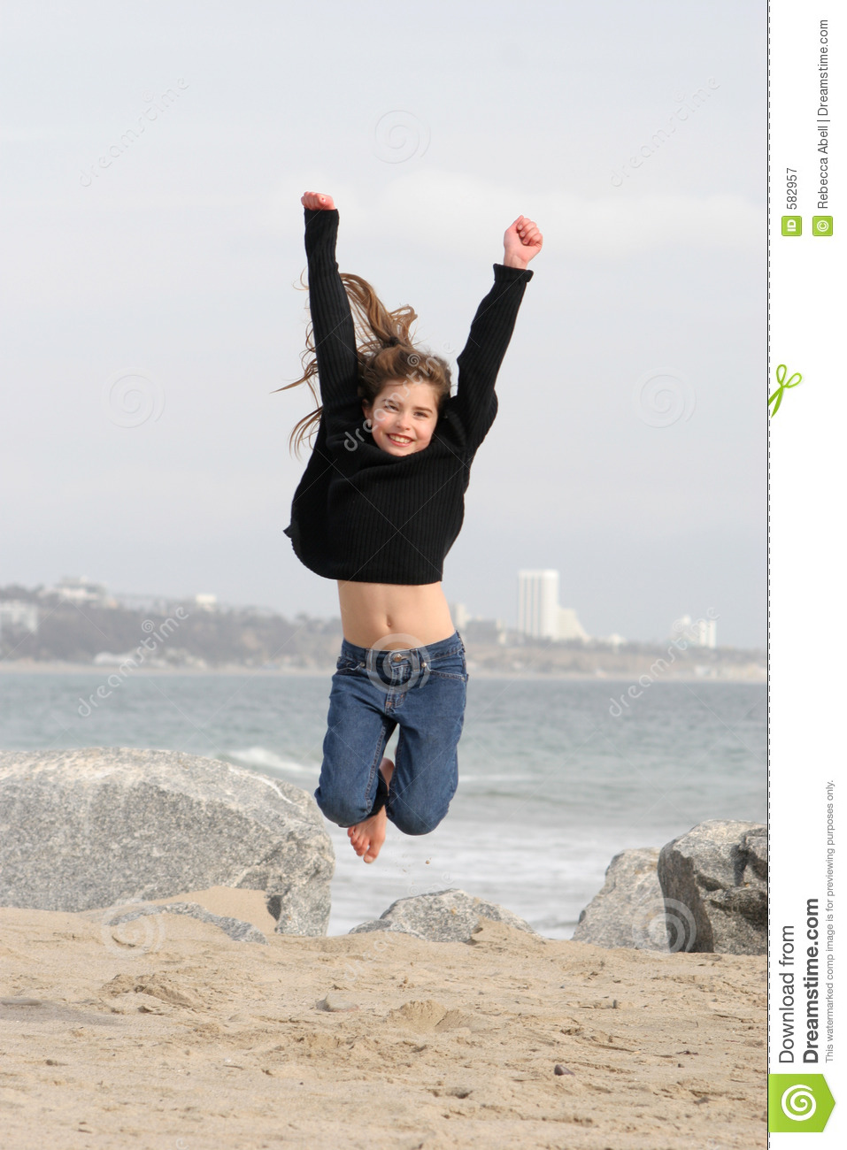 Child Jumping For Joy Royalty Free Stock Photography - Image: 582957