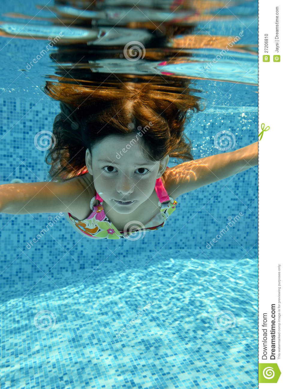 Child Jumps To Swimming Pool Stock Photo Image 27206810
