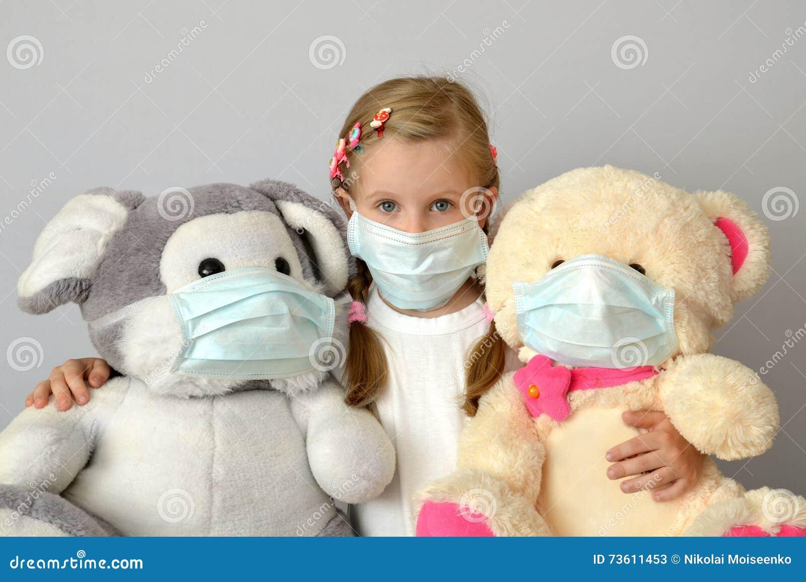 Kid Stock Medicine Epidemic Medical Flu Girl Child Mask