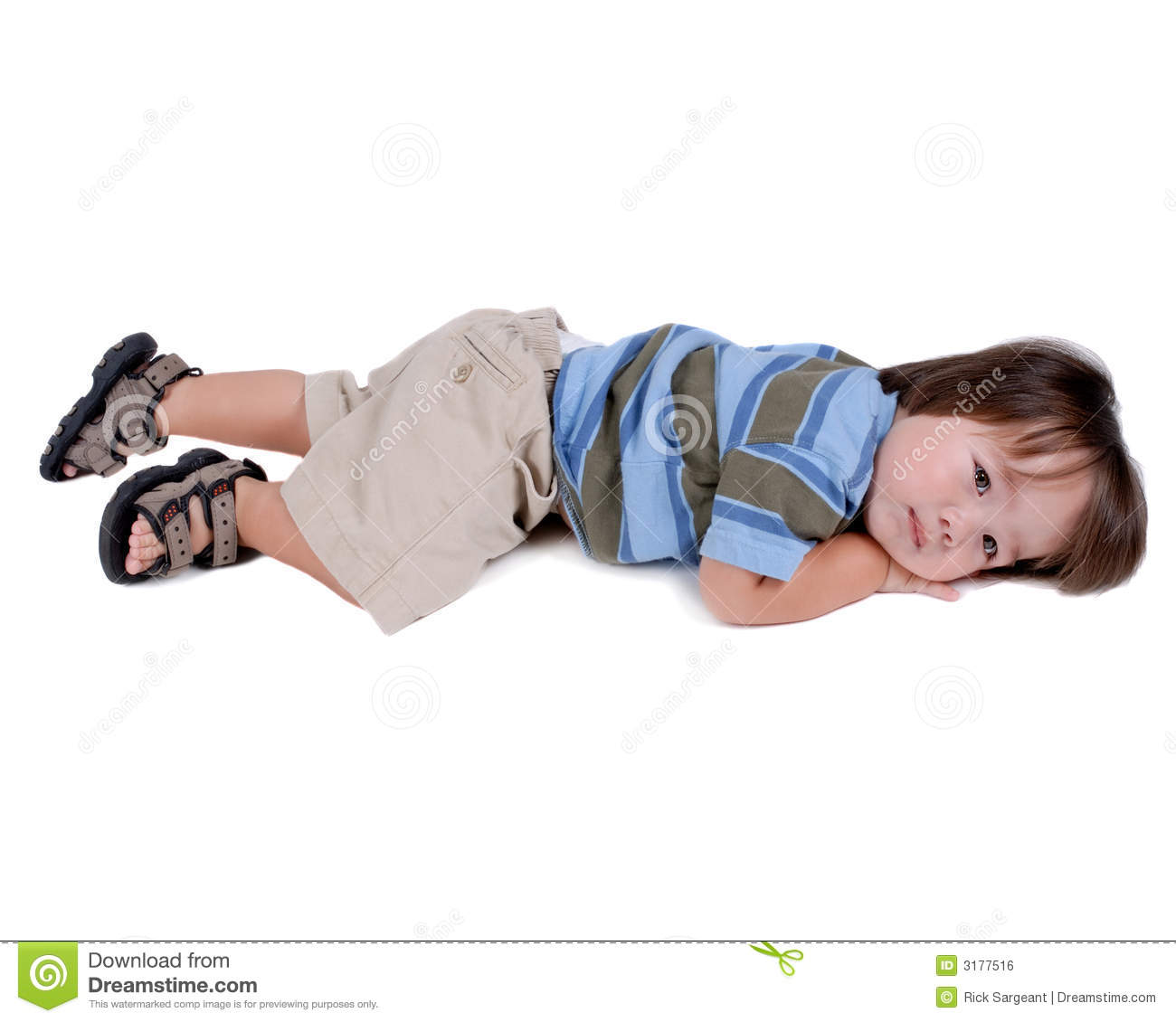 Child laying on floor royalty free stock image image for On the floor