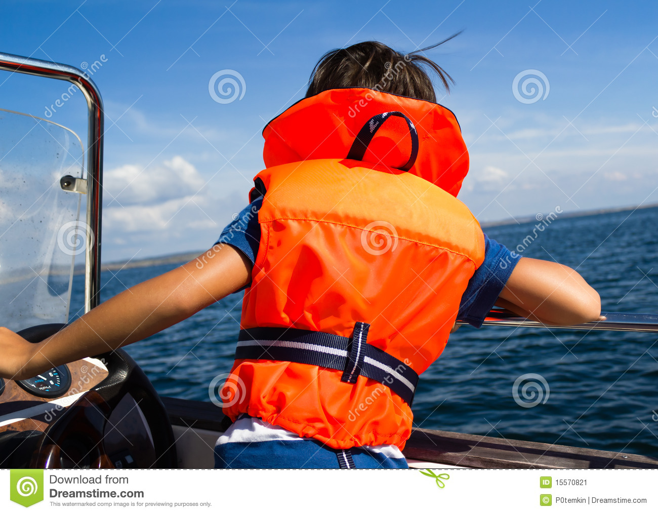 Child with life vest