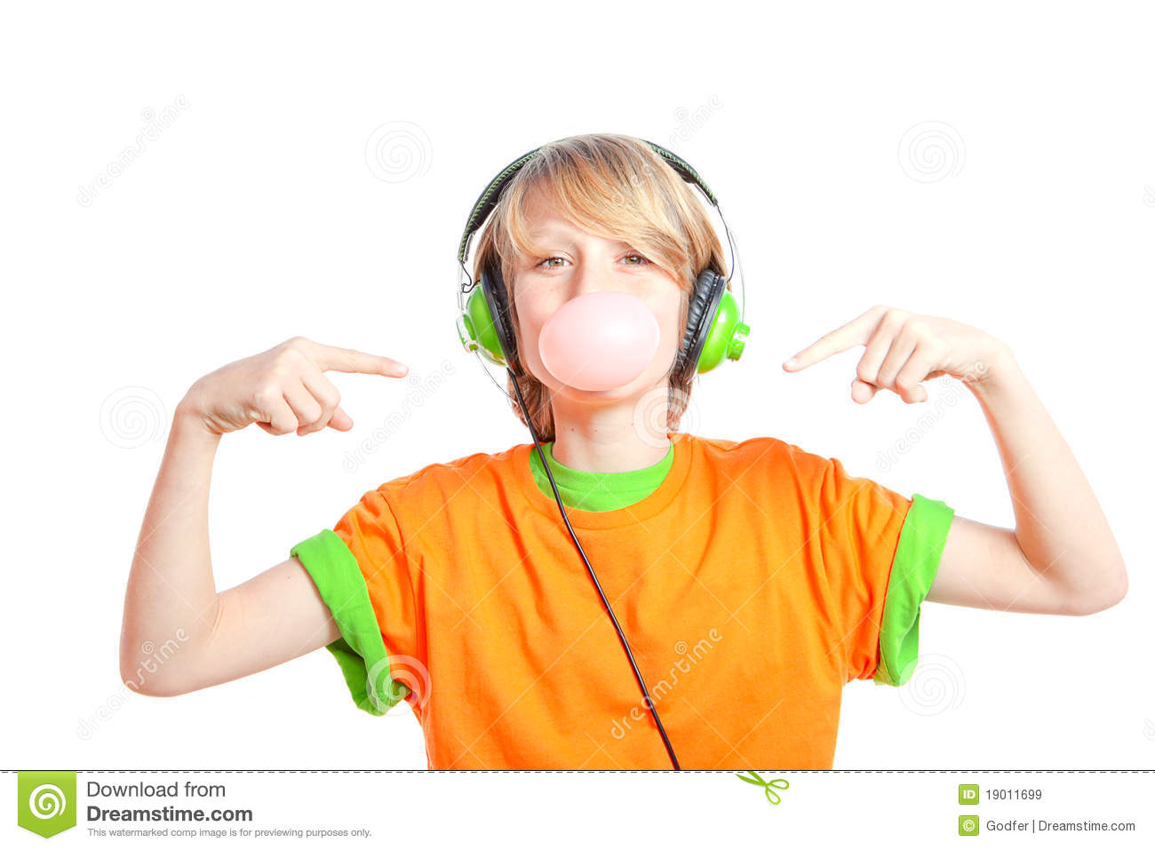 Royalty free stock images child listening music