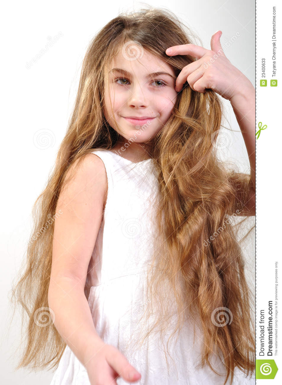 Child With Long Hair Stock Image Image Of Girl Looking
