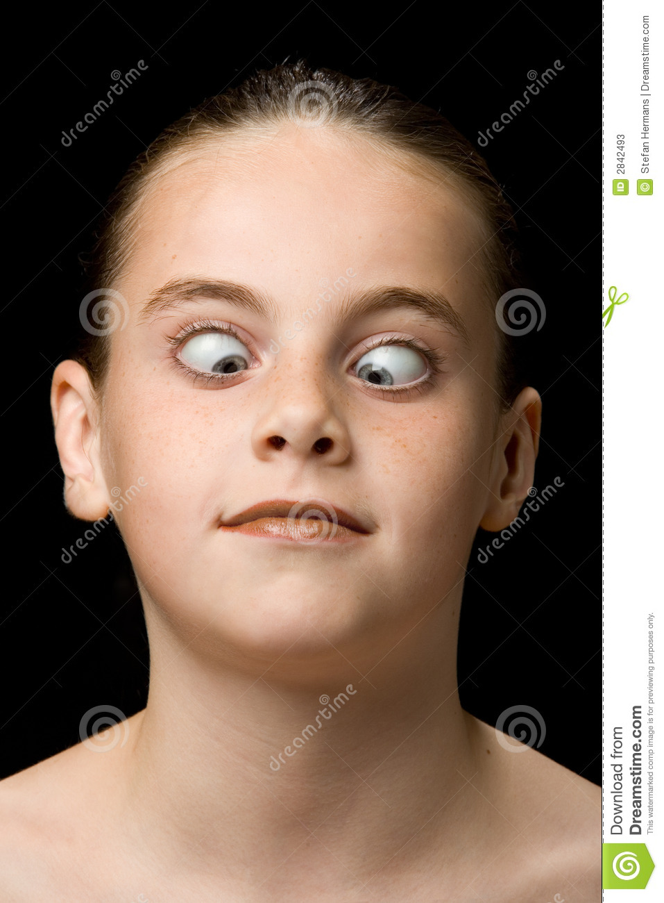child looking at nose stock photos