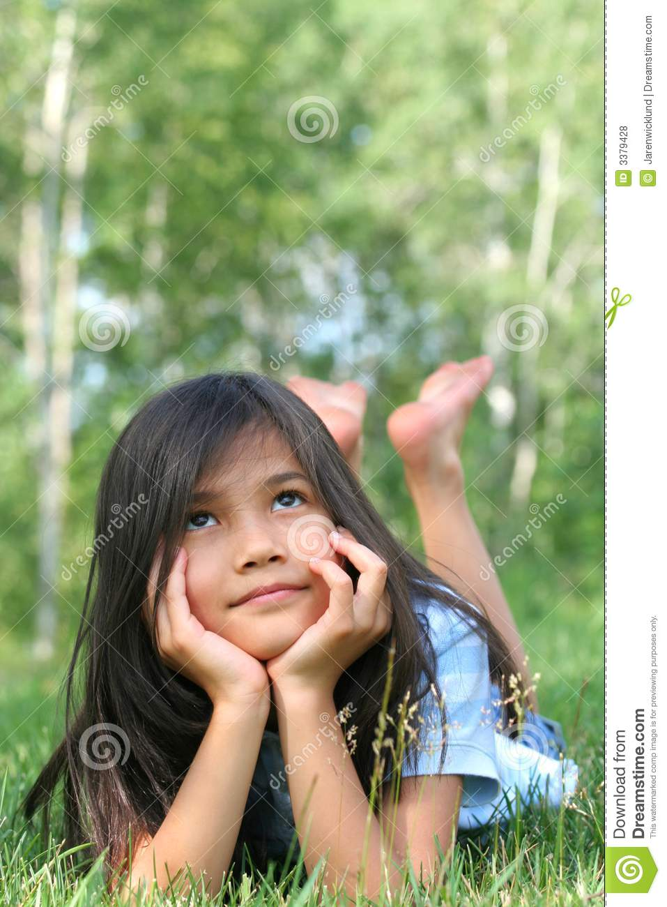 Child Lying Grass Thinking Stock Images - Download 248 ...