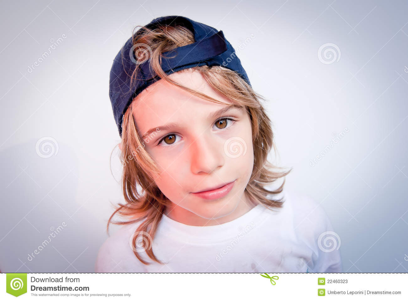 the boy with the nike hat