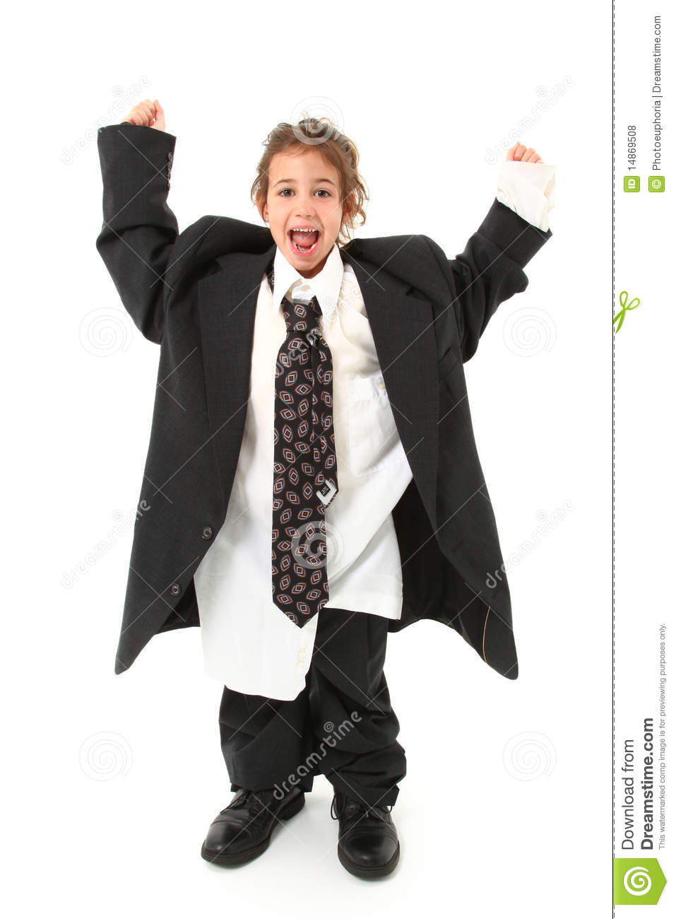 Child In Oversized Suit Royalty Free Stock Photos Image