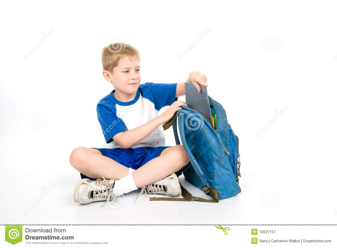 Child packing for school