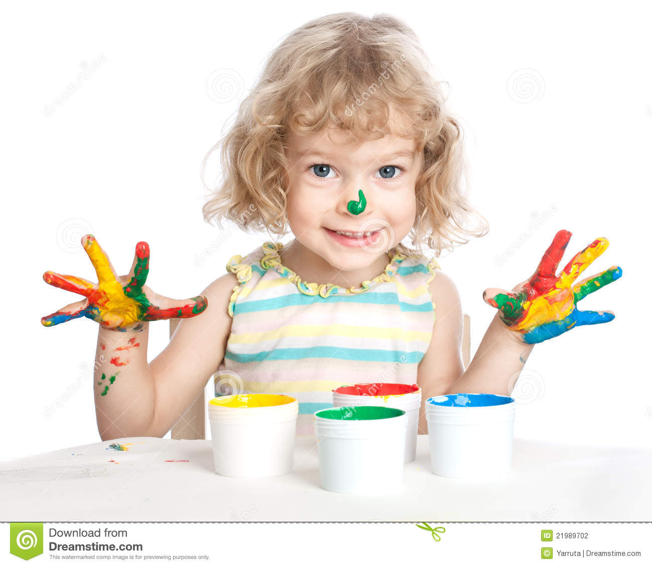child painting stock photography image 21989702