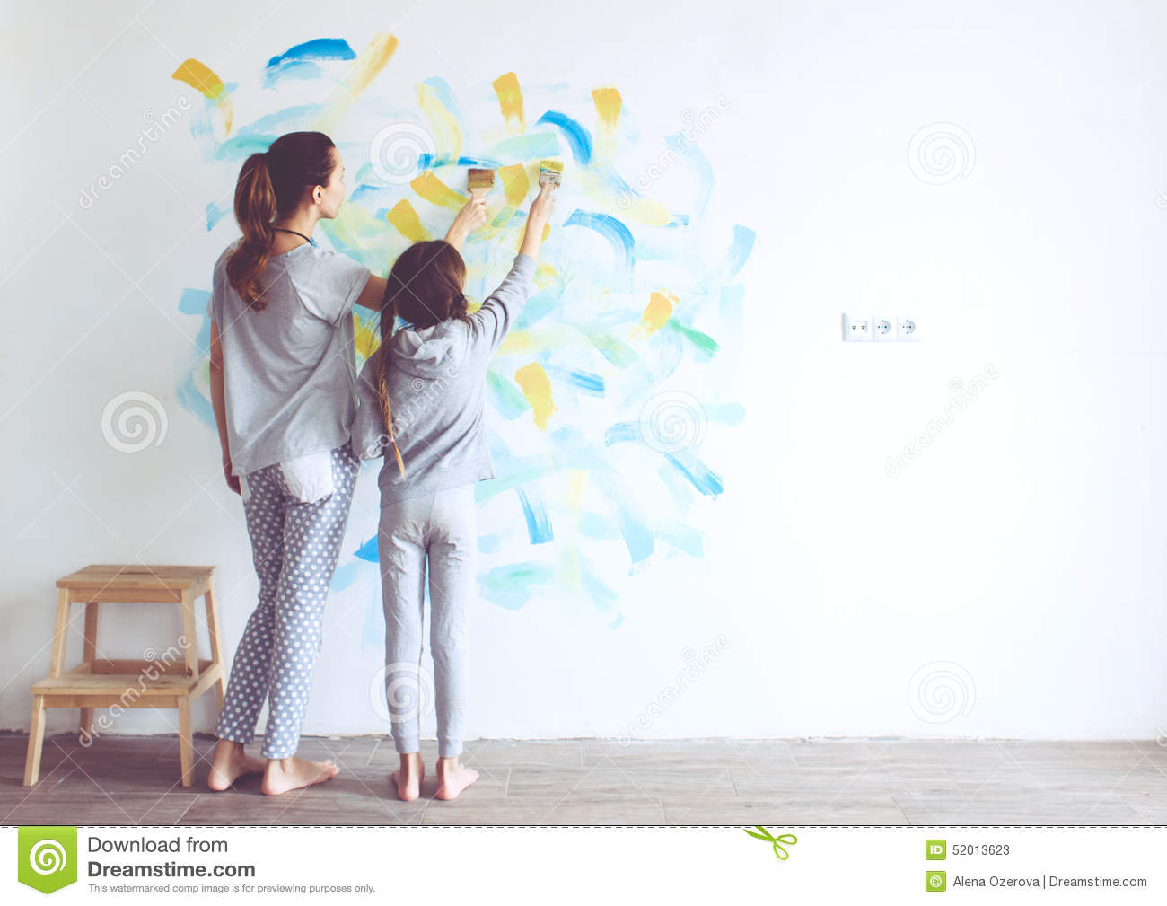 Child painting wall stock photo image 52013623 for Style at home instagram