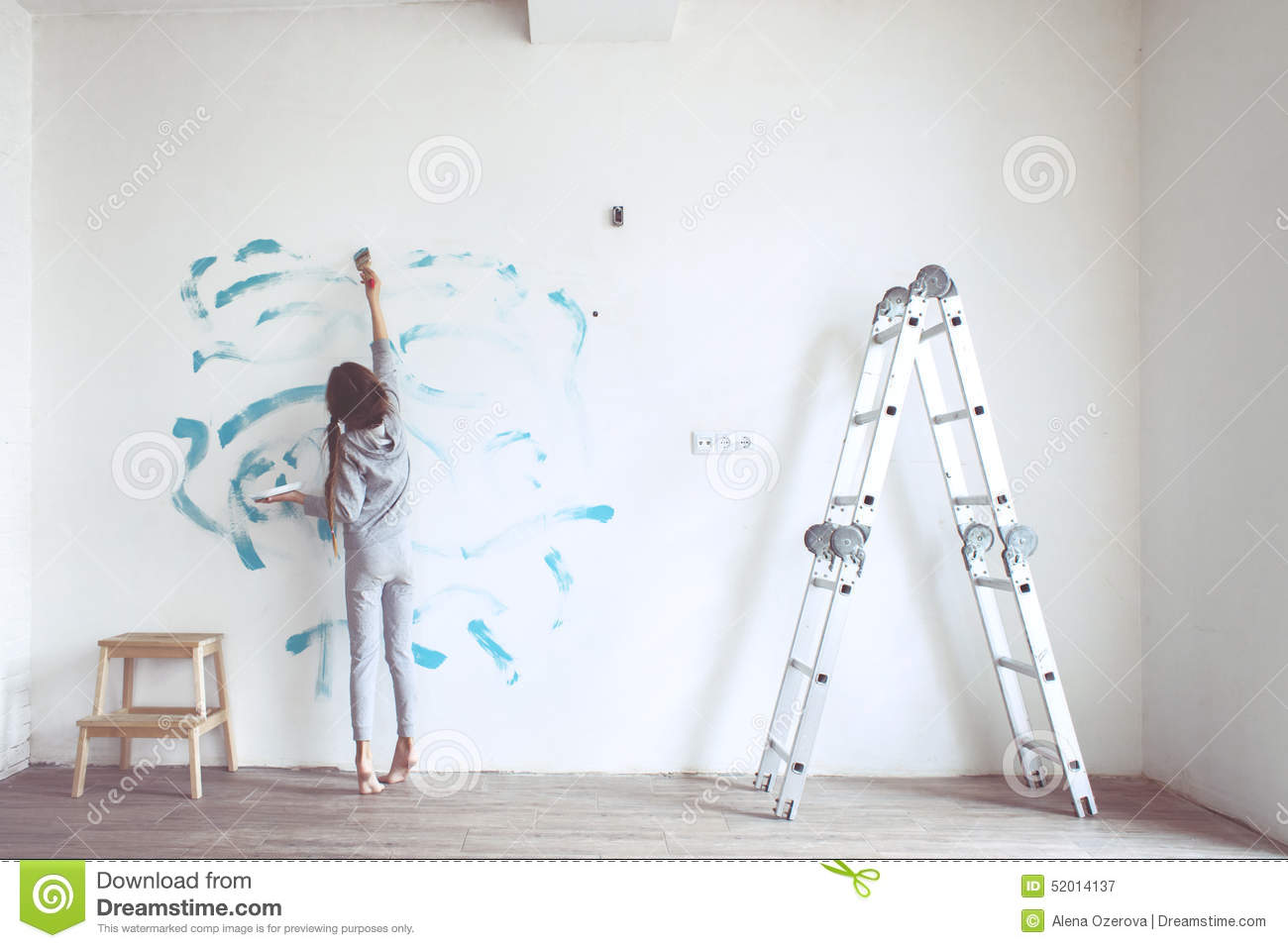 Child painting wall stock photo image 52014137 for Style at home instagram