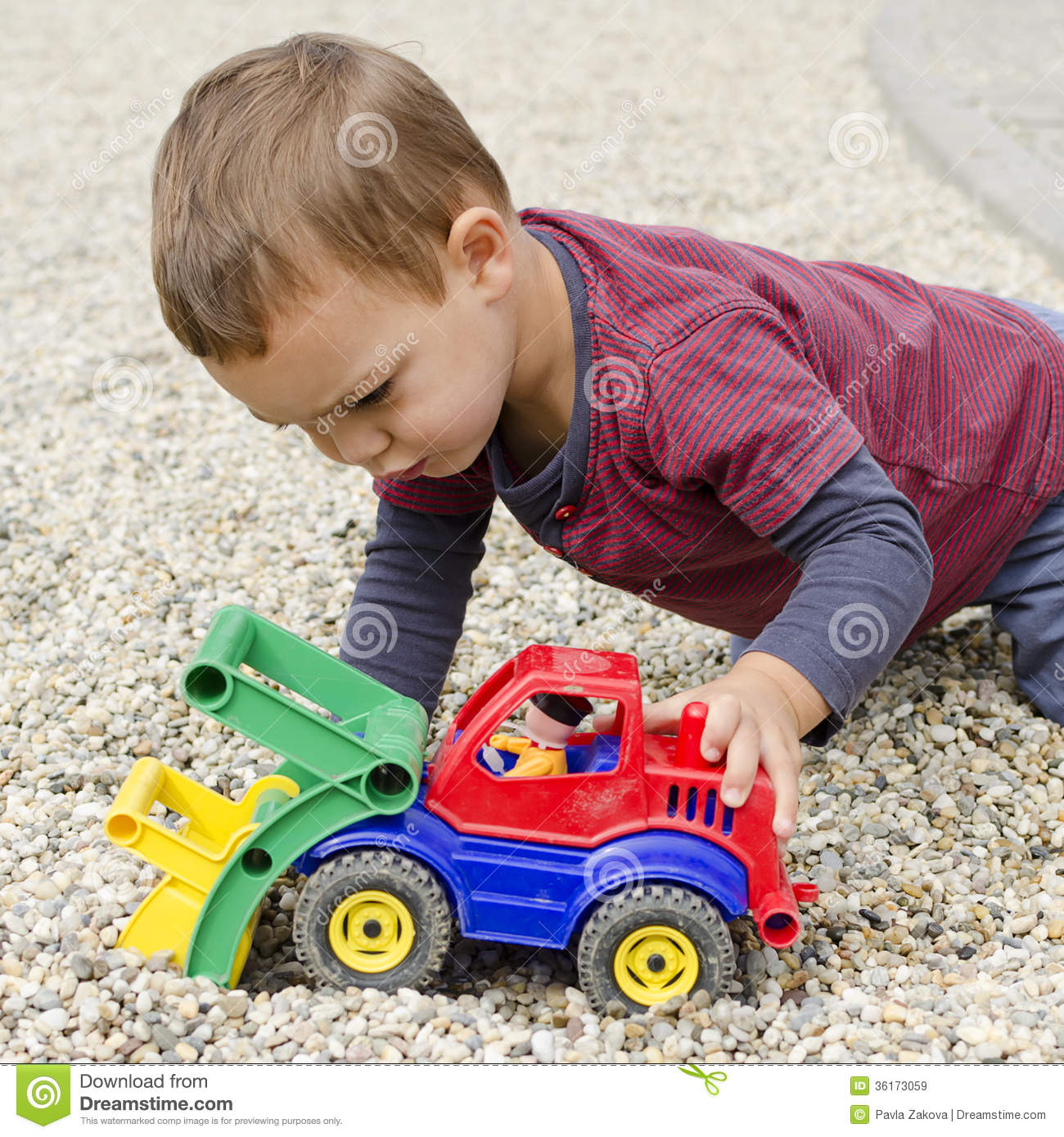 Baby Boy Toy Cars : Child palying with toy car royalty free stock images