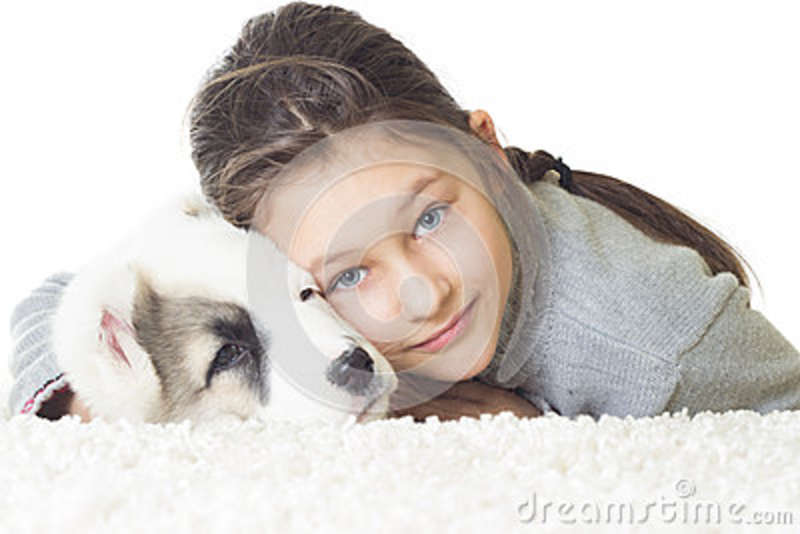 Child and pets