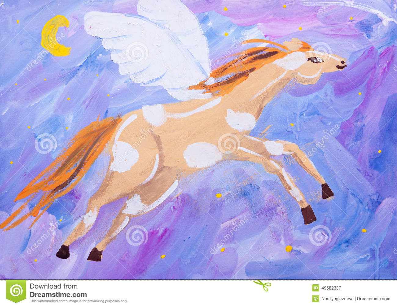 Child Picture Of Fling Horse Stock Illustration Illustration Of