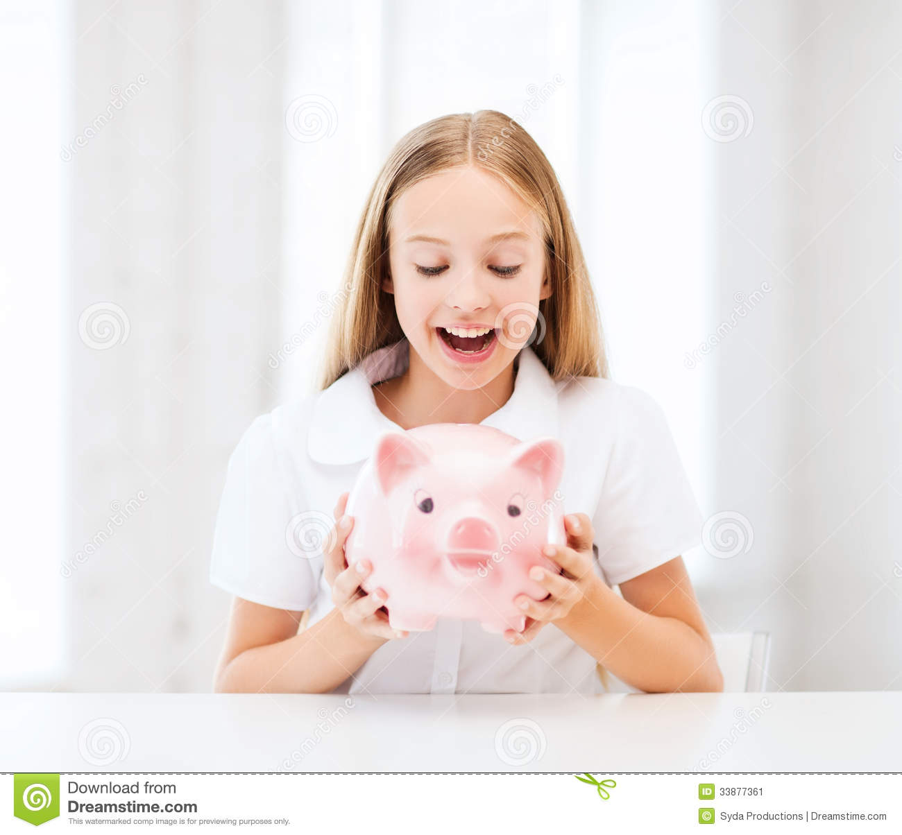 Child with piggy bank stock image image 33877361 for Childrens piggy bank