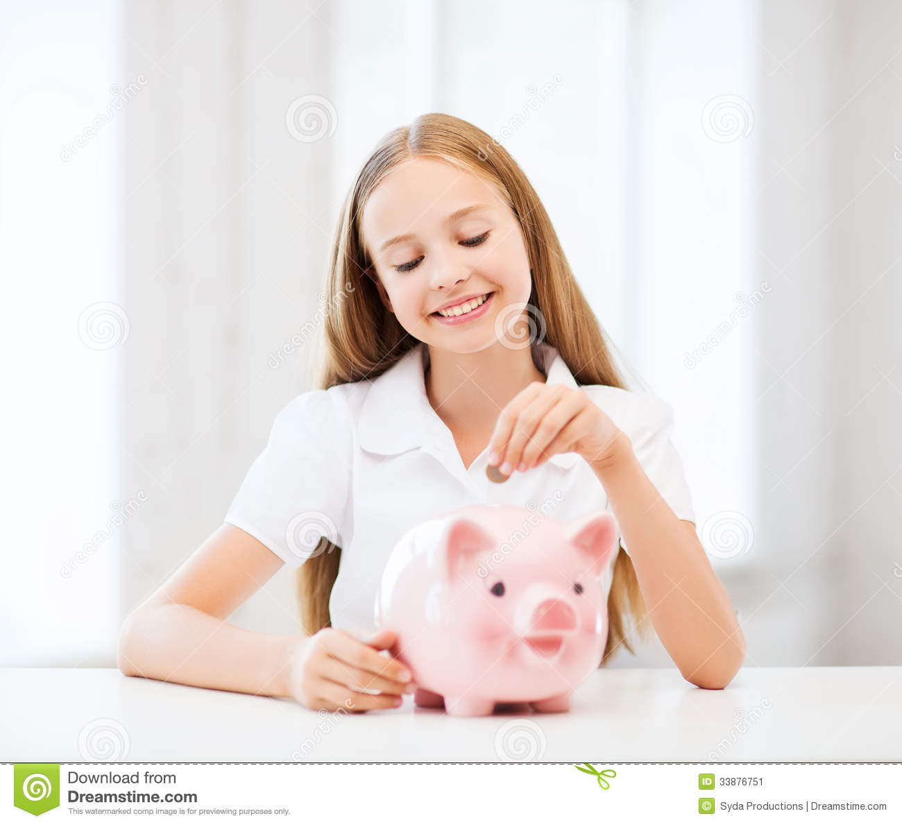 Child with piggy bank stock image image 33876751 for Childrens piggy bank
