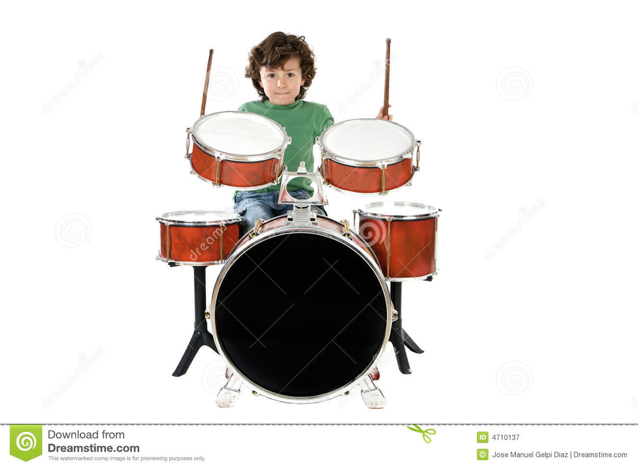 Child Playing A Drum Royalty Free Stock Photography - Image: 4710137