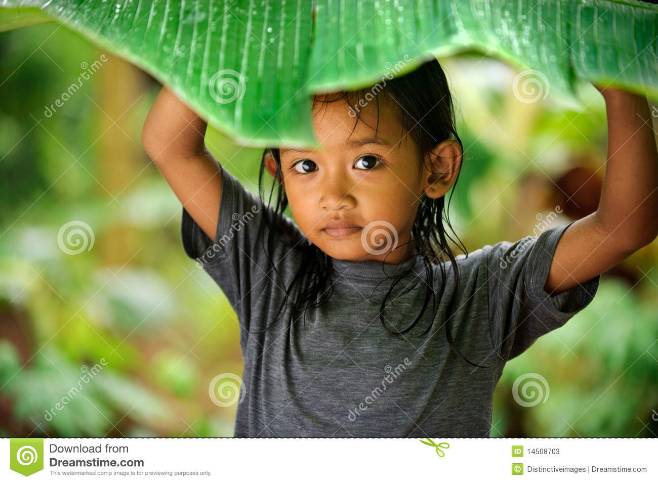 Child Playing In Rain Stock Photos Image 14508703