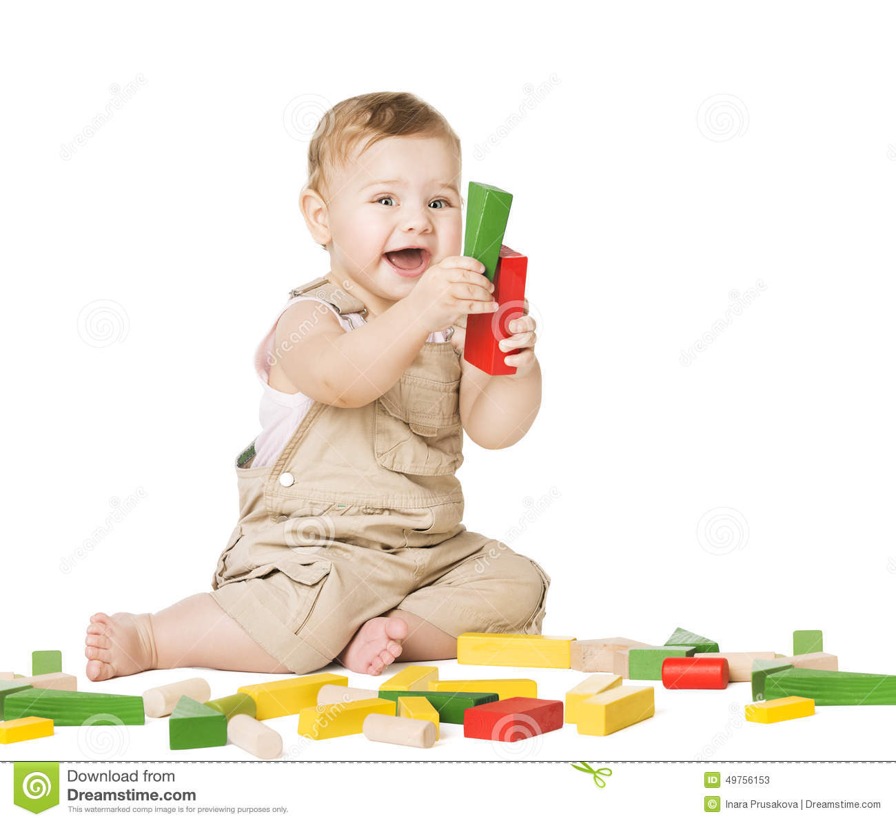 Child playing toys blocks children development concept for Happy playsets