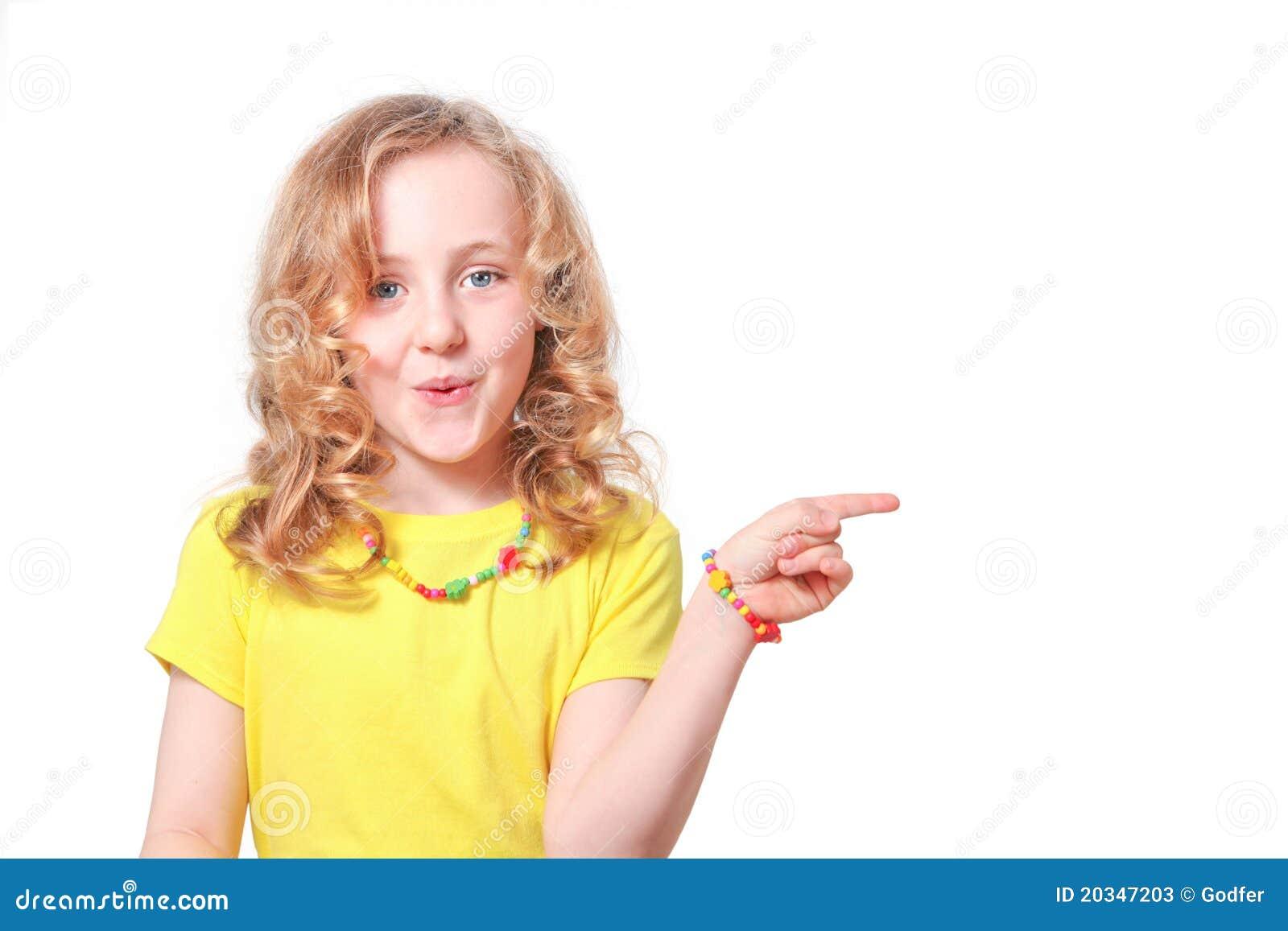 Child Pointing Stock P...