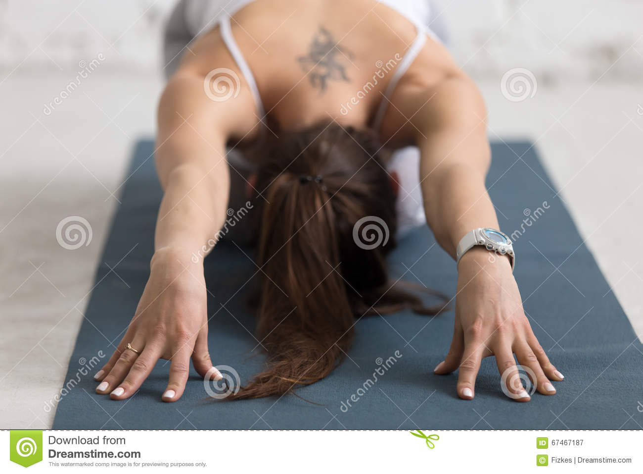 Child Pose Balasana Close Up Stock Image Image Of