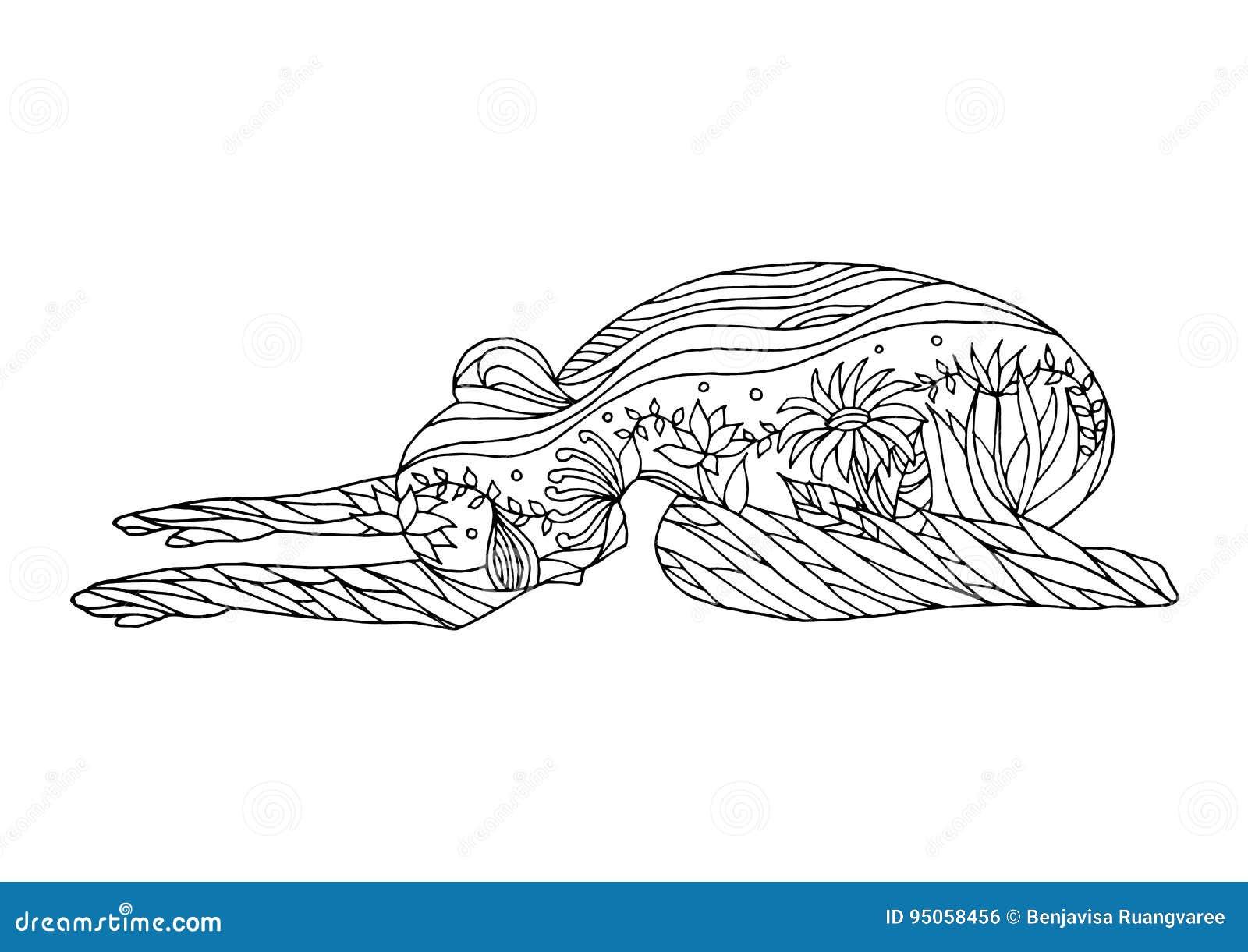 Balasana Drawing