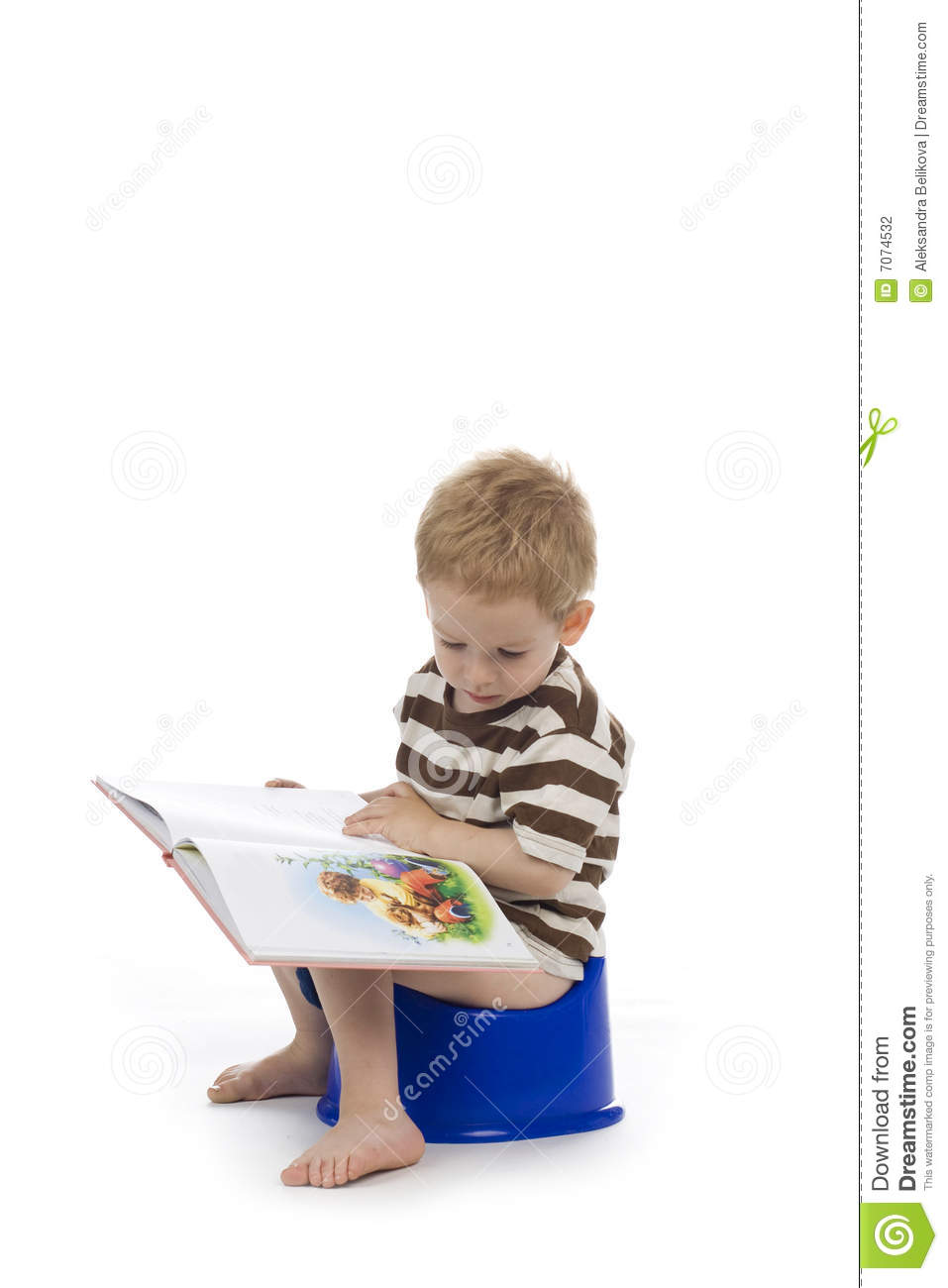 Child On Potty Stock Photography Cartoondealer Com 18393326