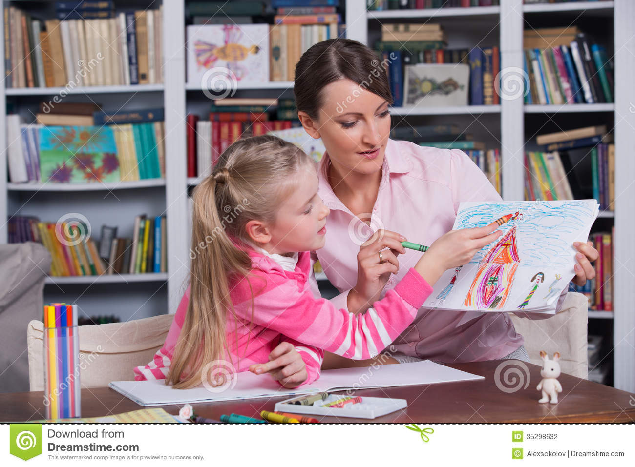 child psychologist with a little girl stock photography - image, Sphenoid