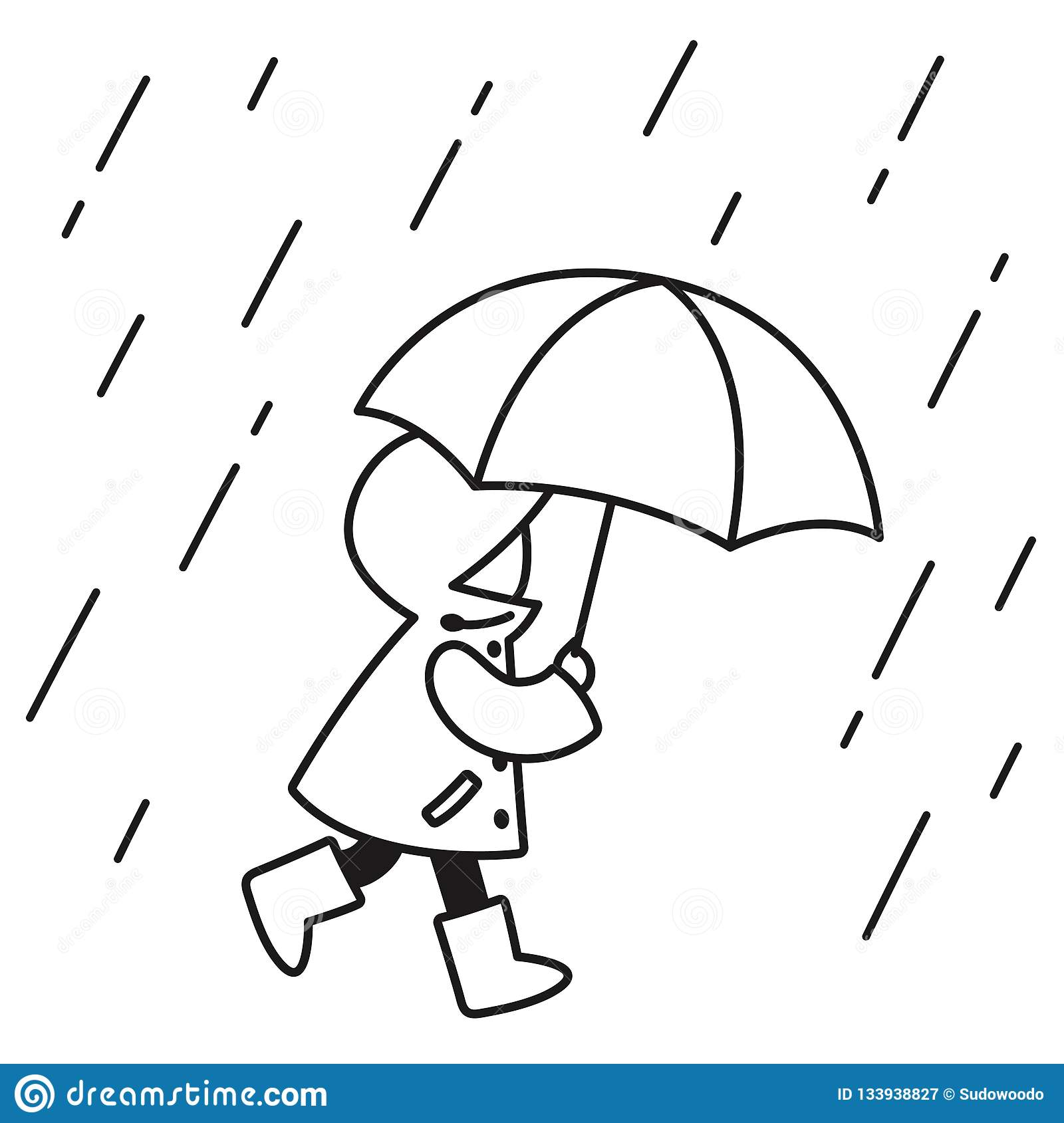 How To Draw Rain Clothes