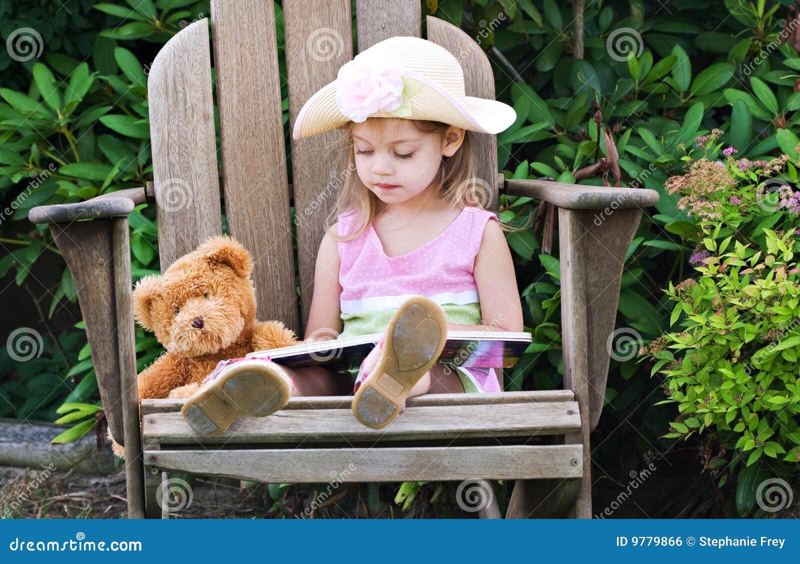 Little Kid Reading Book