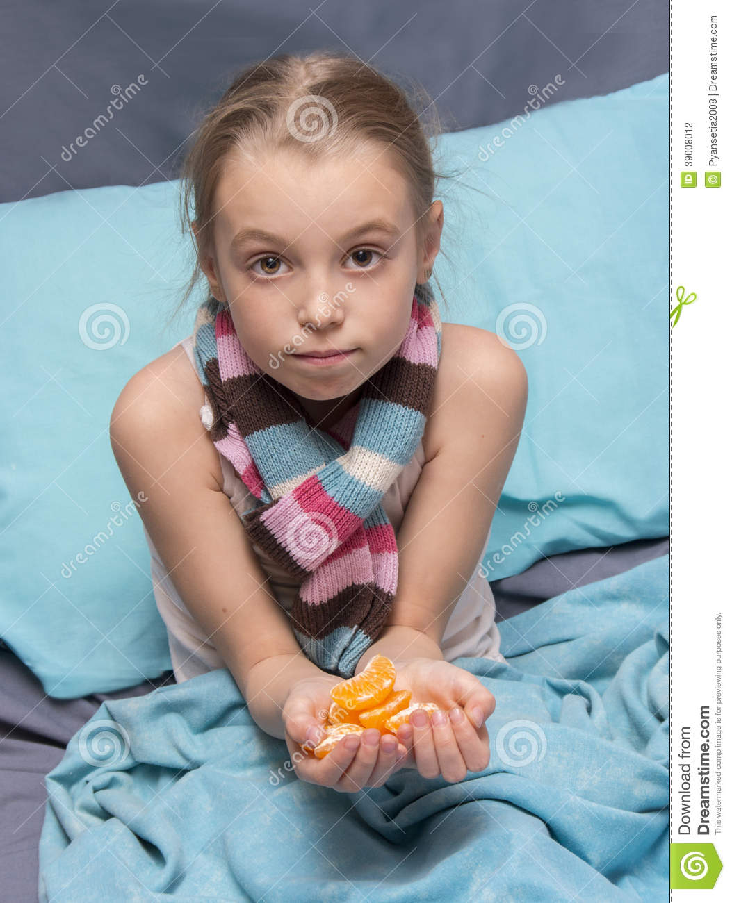 Child Is Recovering From An Illness Stock Photo - Image of ...