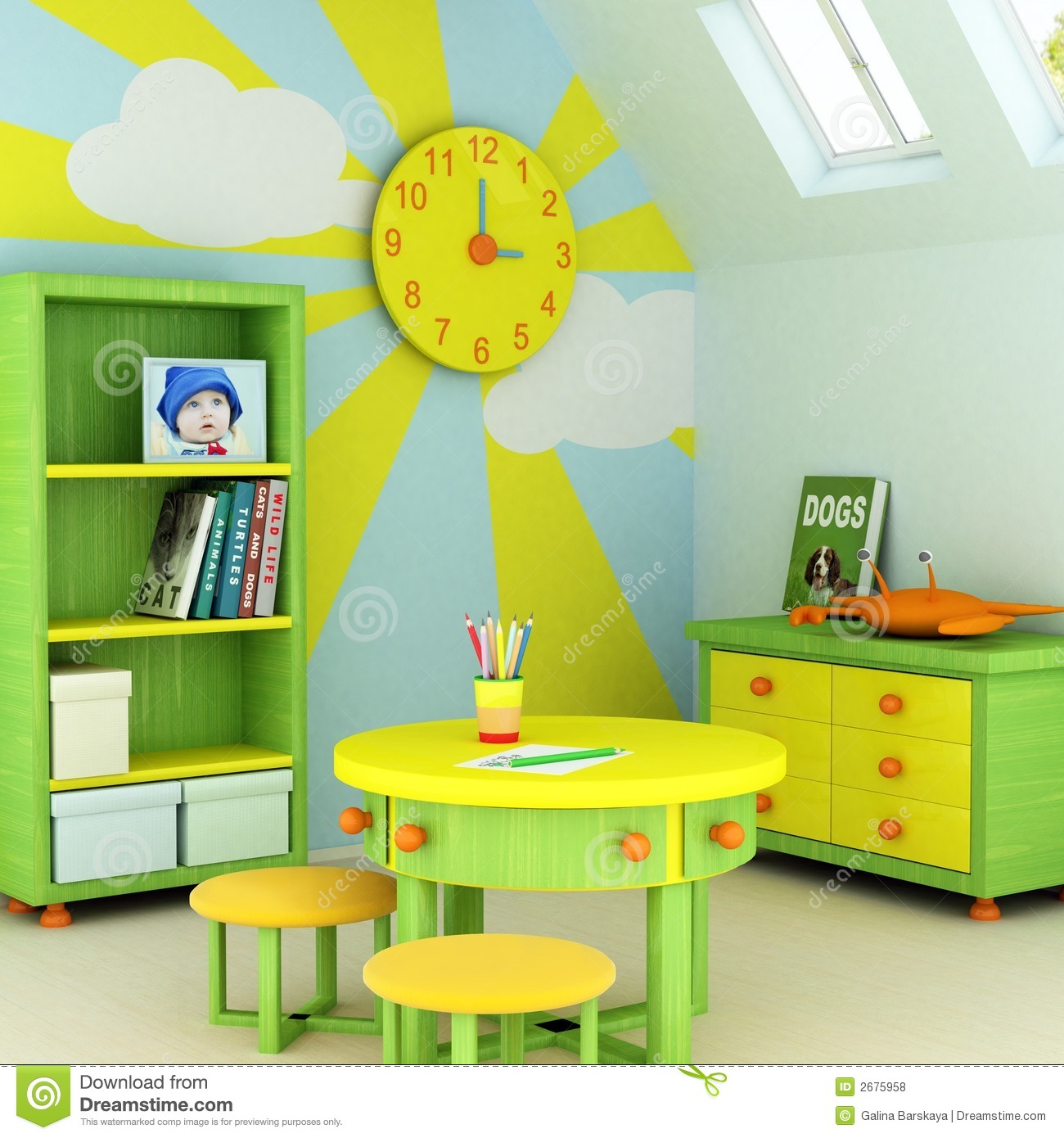 Child room royalty free stock photos image 2675958 for 3d baby room design