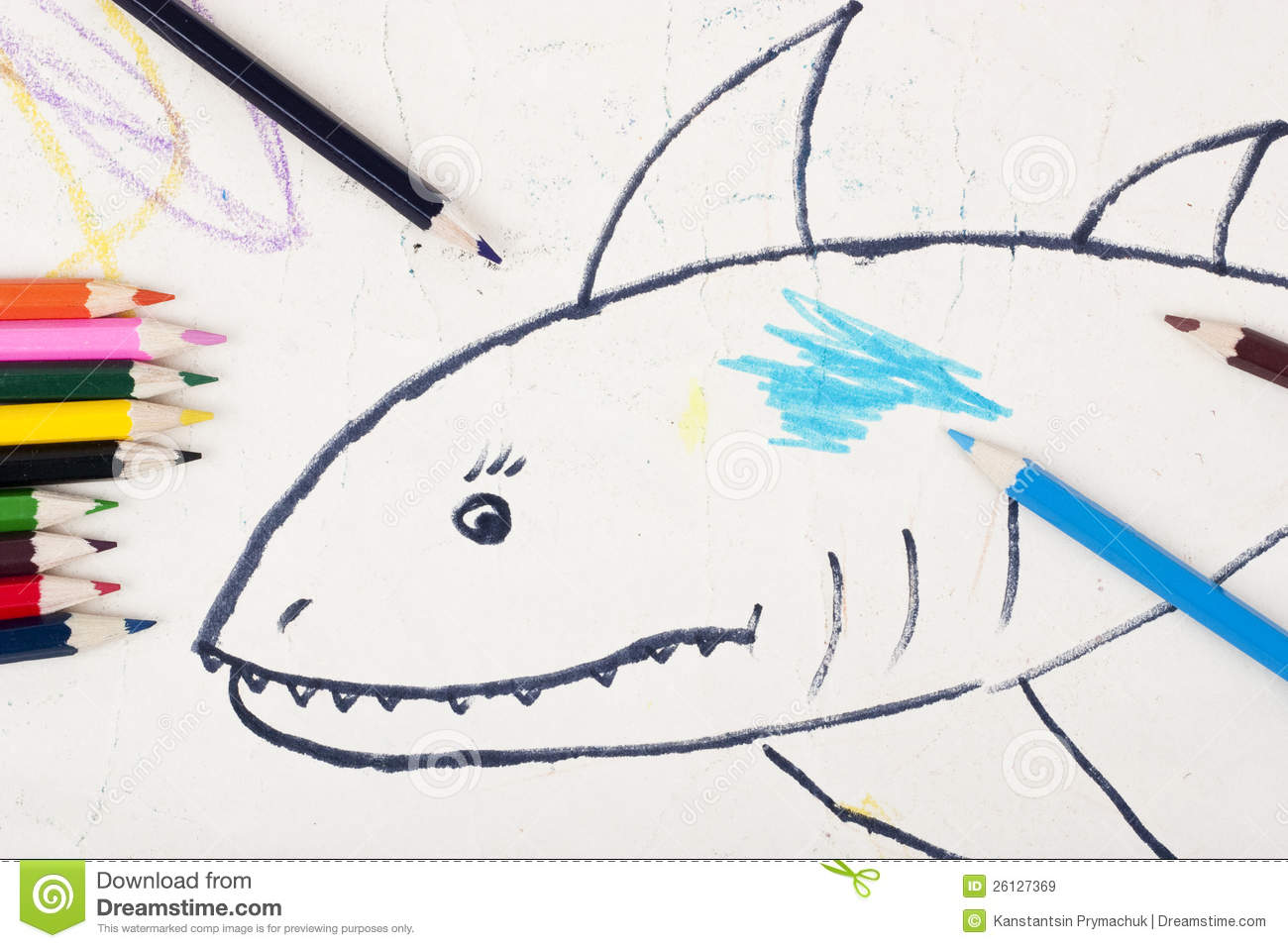 Child s drawing a shark