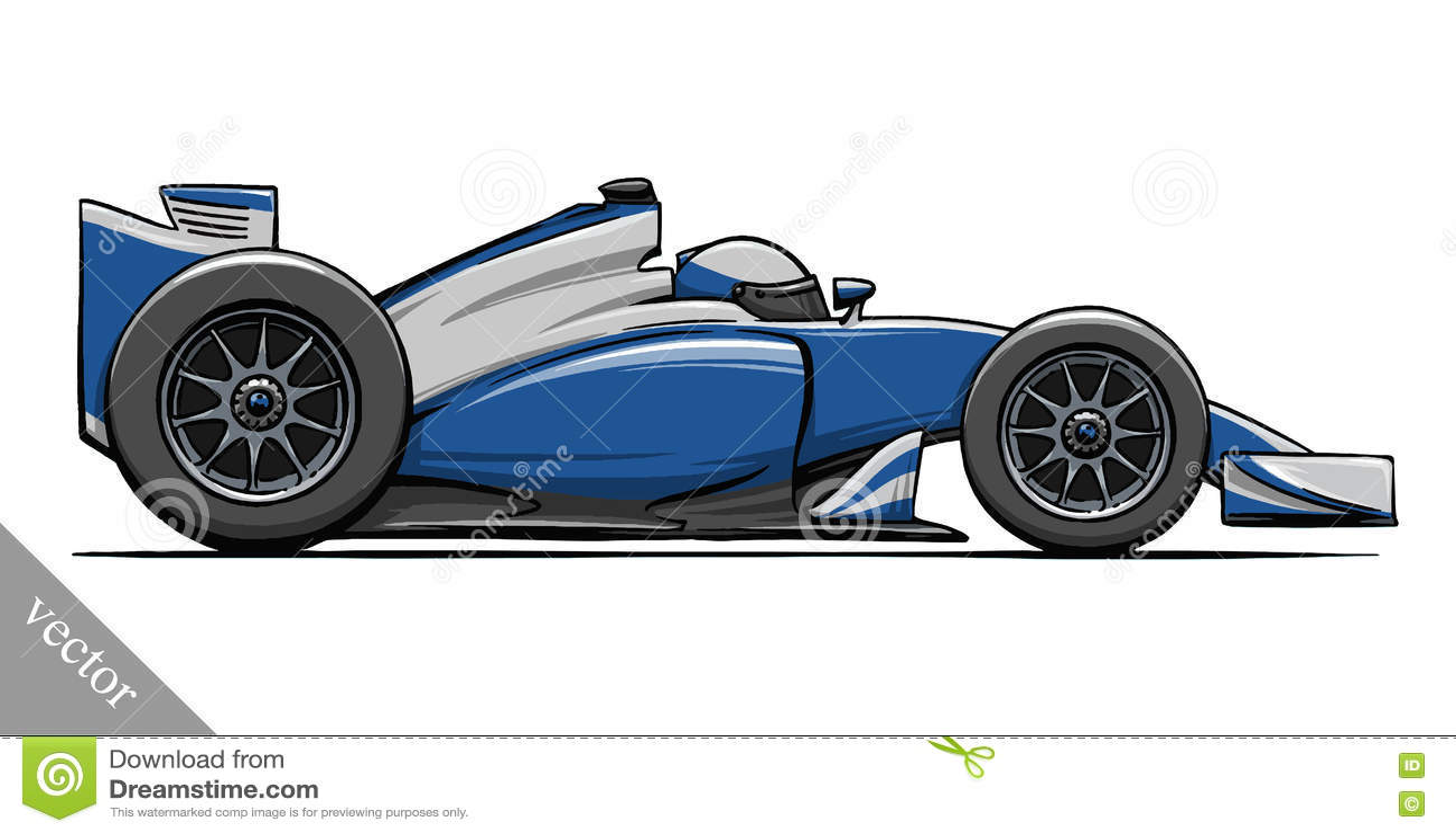 child u0027s funny cartoon formula race car vector illustration art