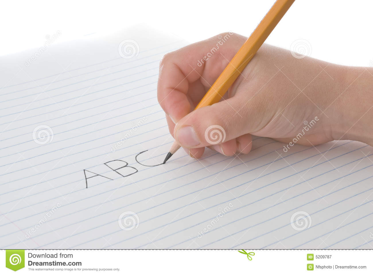Hand writing on paper