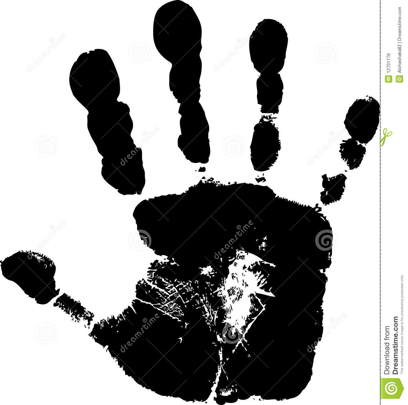 Child s handprint 2 royalty free stock image image 12701776