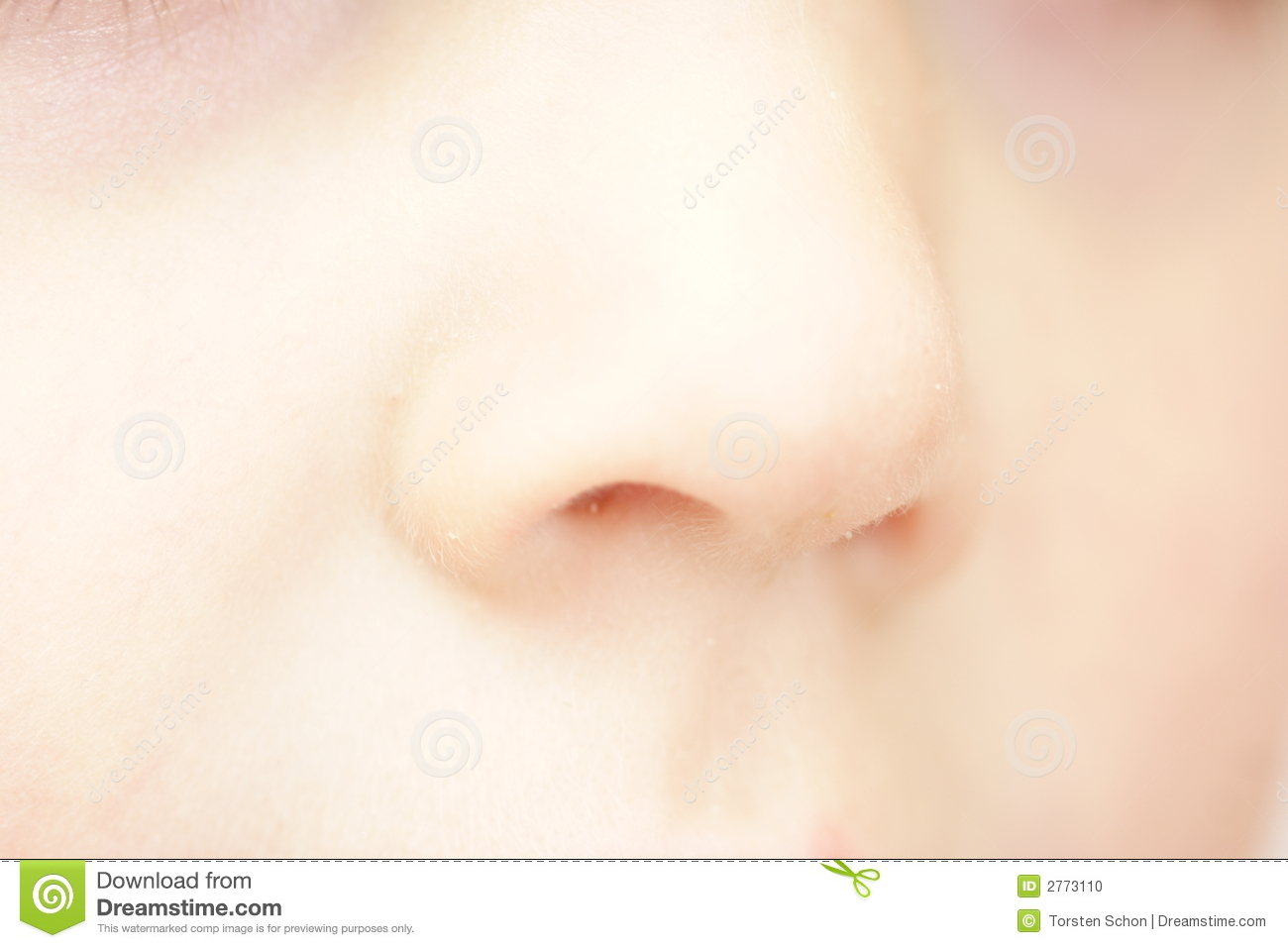 Child's Nose Stock Photo - Image: 2773110