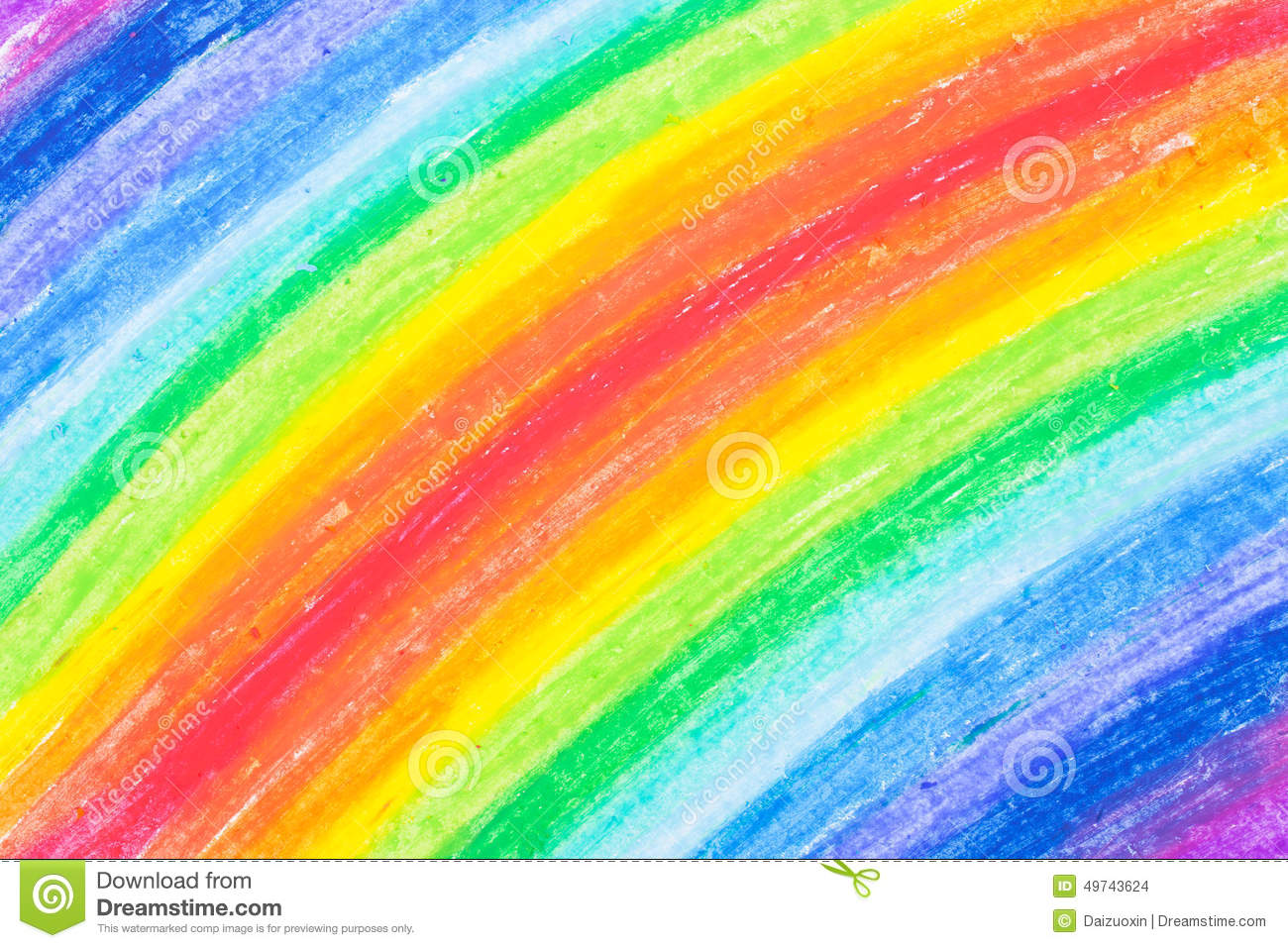 Crayon Scribble Drawing : Child s rainbow crayon drawing stock photo image