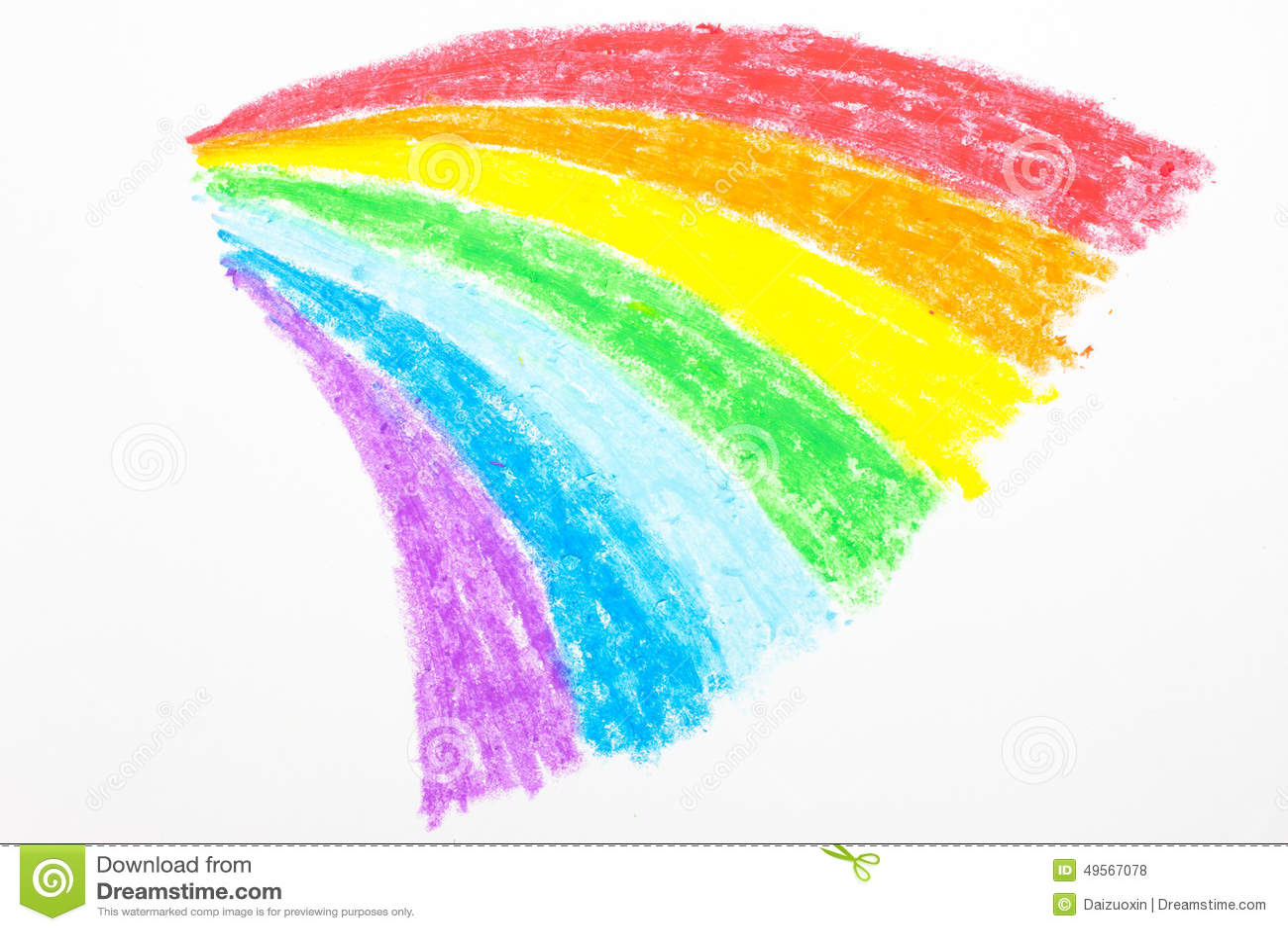 child s rainbow crayon drawing stock photo image of crayons