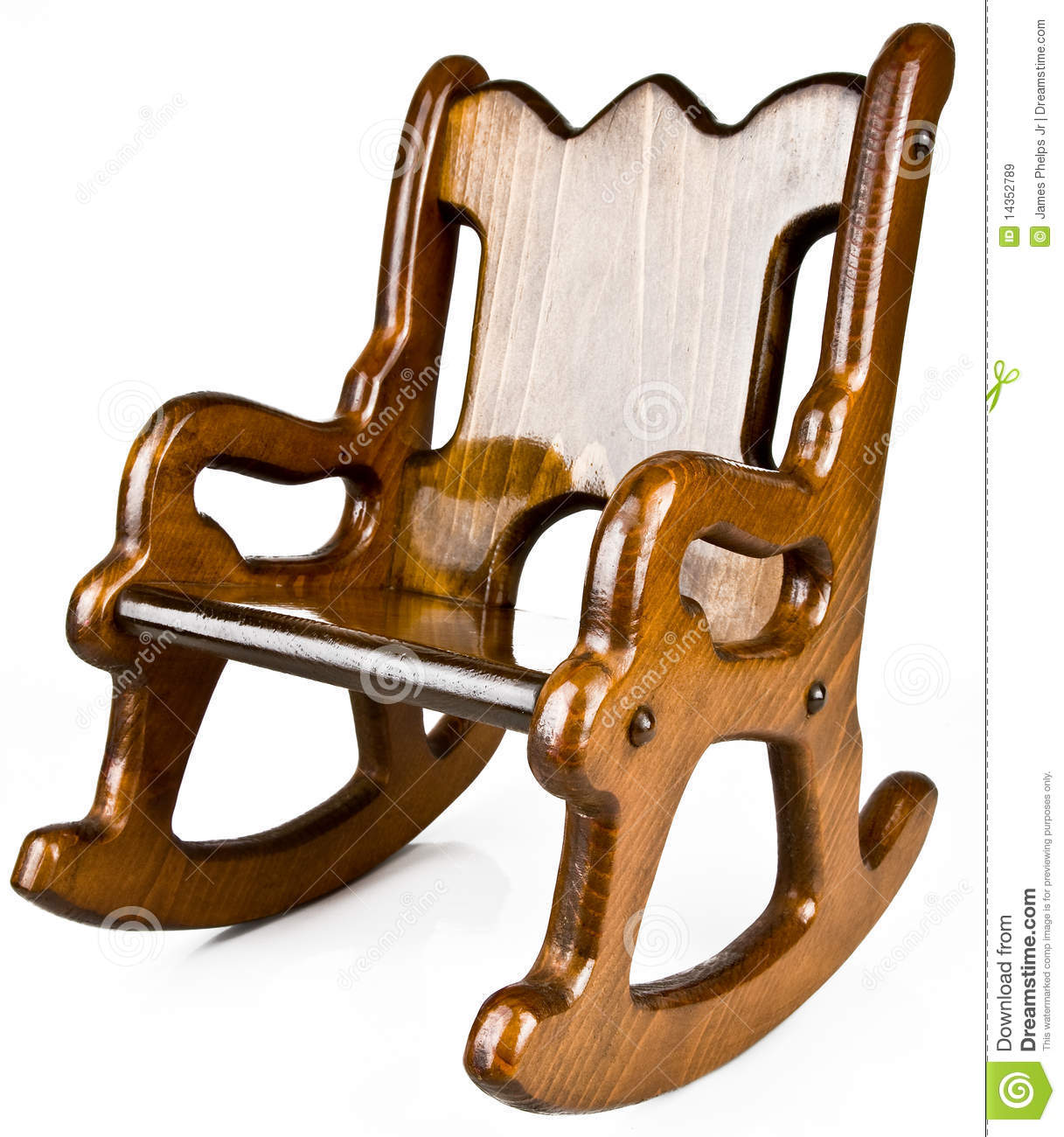 Childs Solid Wood Rocking Chair Royalty Free Stock Images
