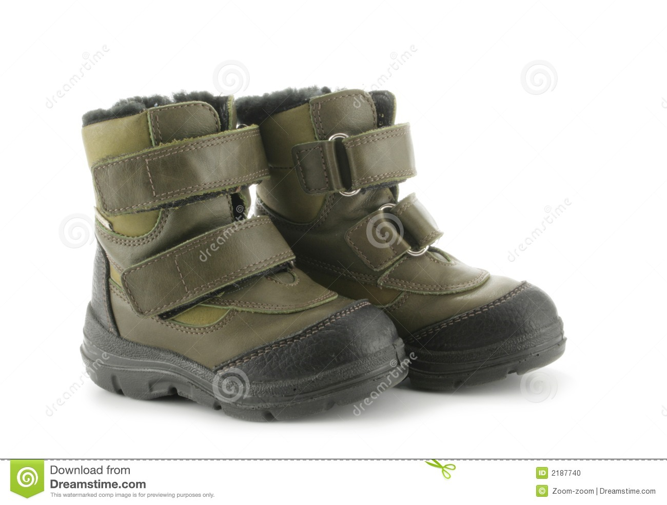 Child's Winter Boots Stock Photo - Image: 2187740