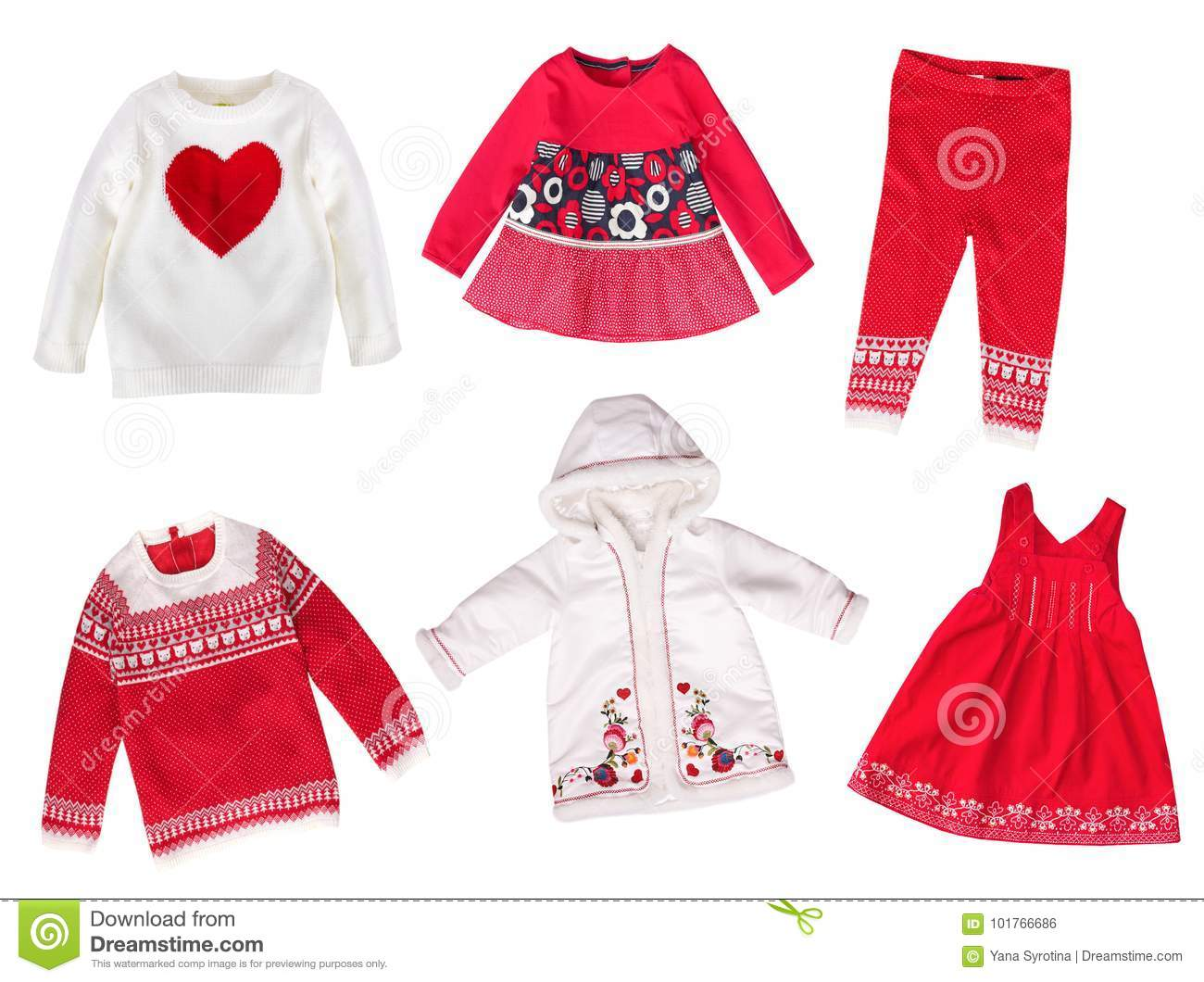 Child`s Winter Holiday Clothes Isolated. Stock Photo - Image of ...
