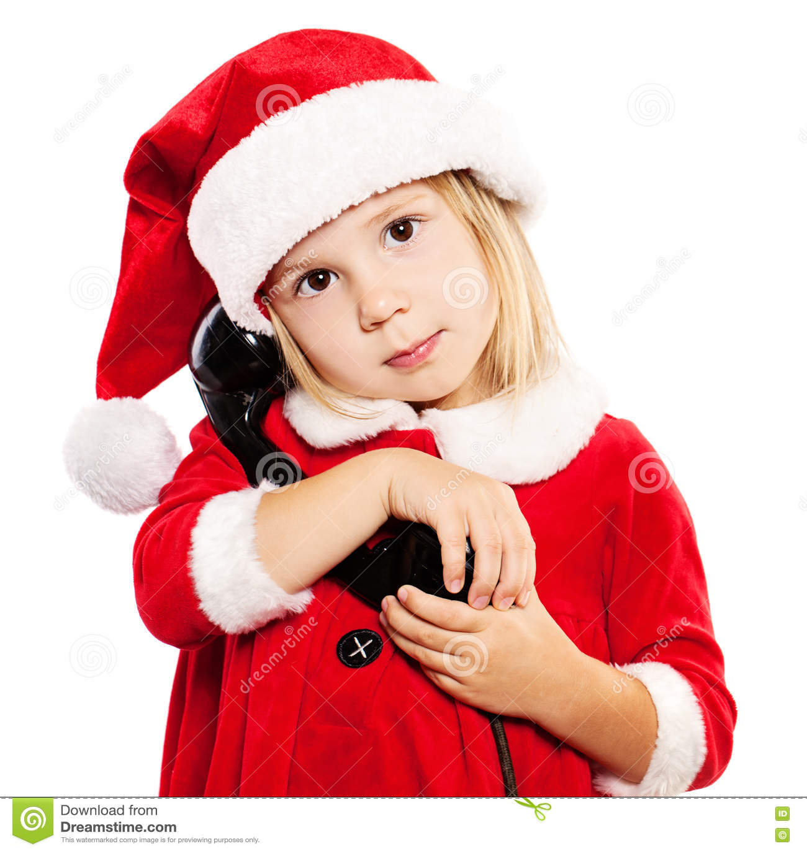 edffbfc4f Child In Santa Hat. Christmas Child Stock Photo - Image of cute ...
