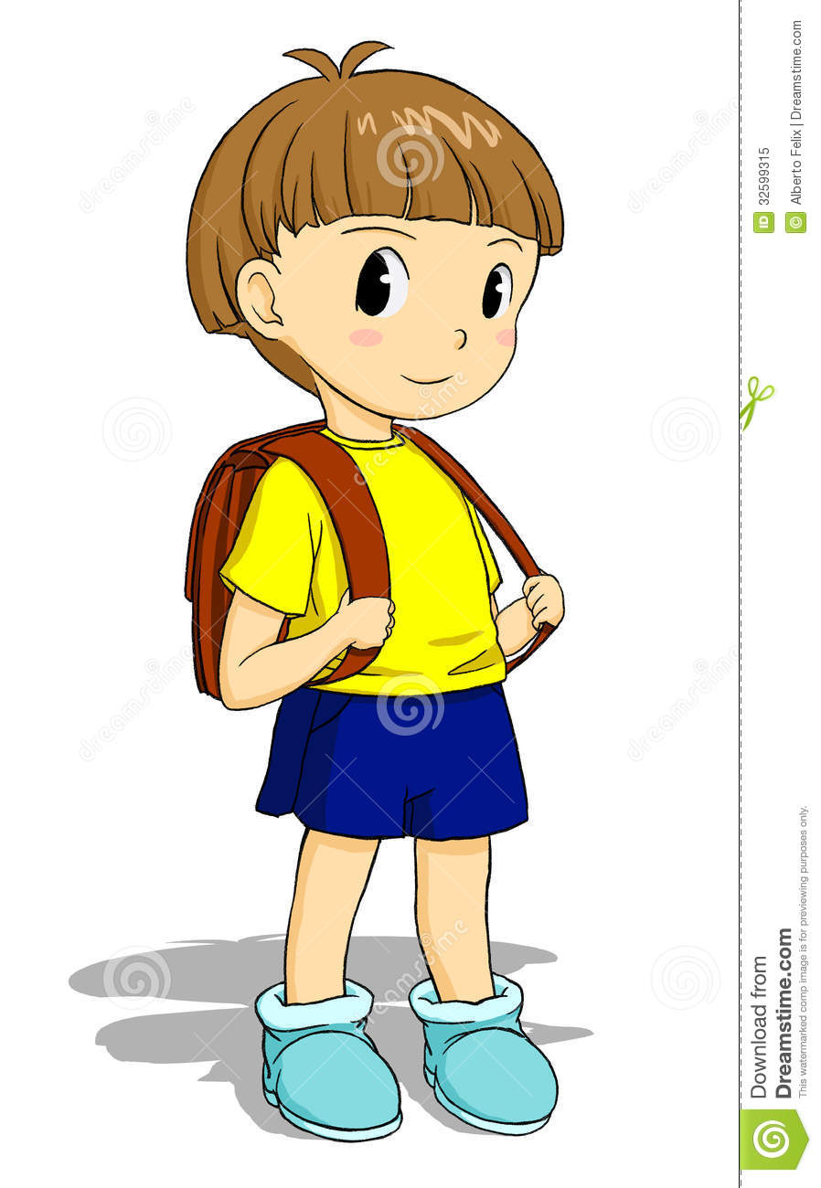 Child With Schoolbag Royalty Free Stock Photo - Image ...