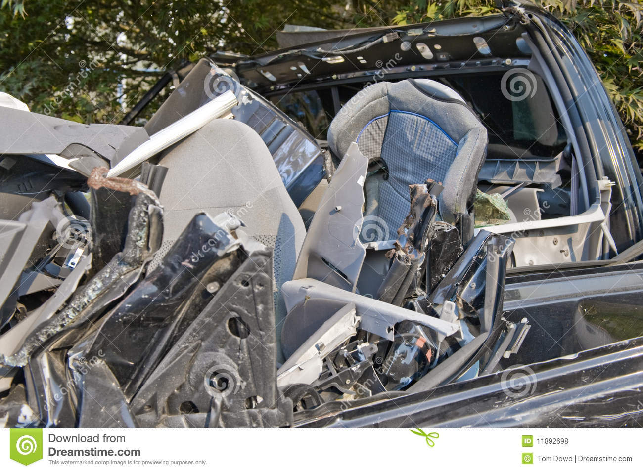 Child Seat In Car Wreck Royalty Free Stock Photos - Image ...